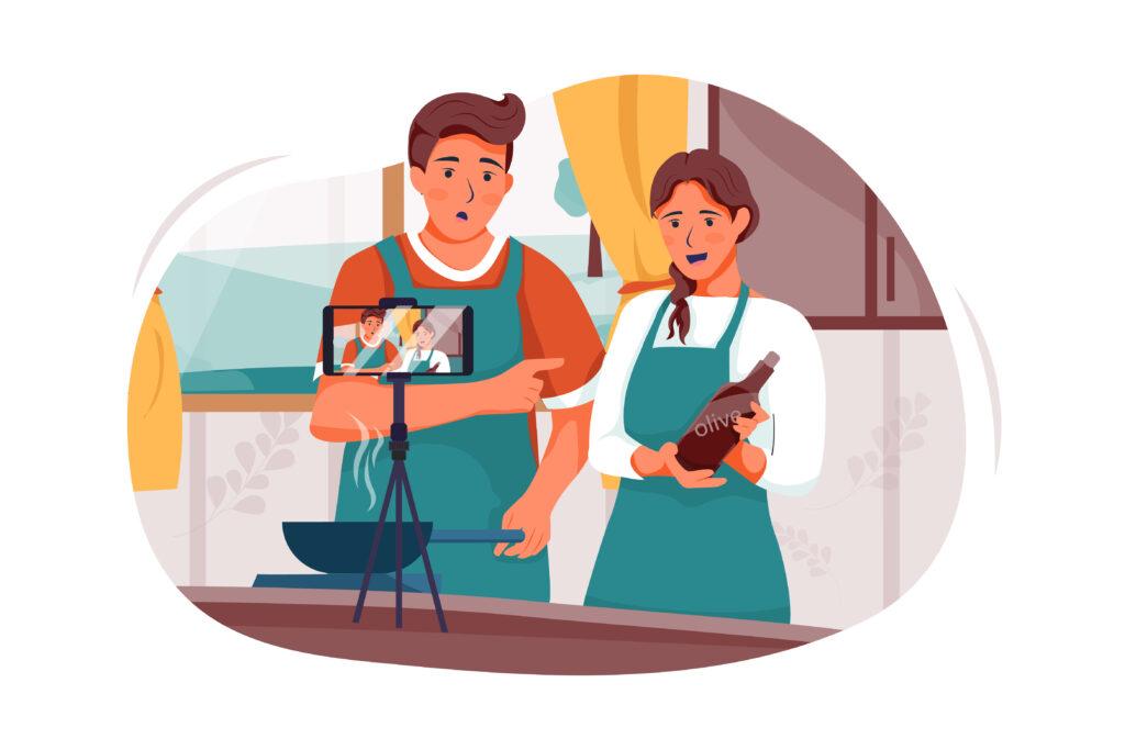 Video recording of a culinary program