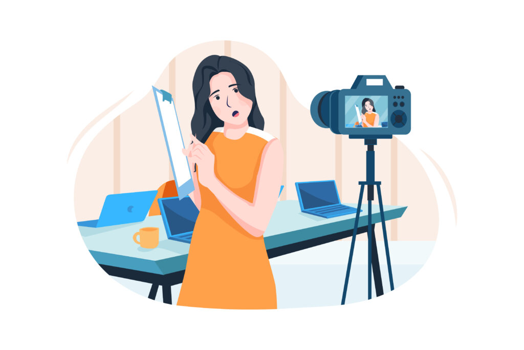 """Video recording in the article """"Video as a marketing tool"""""""