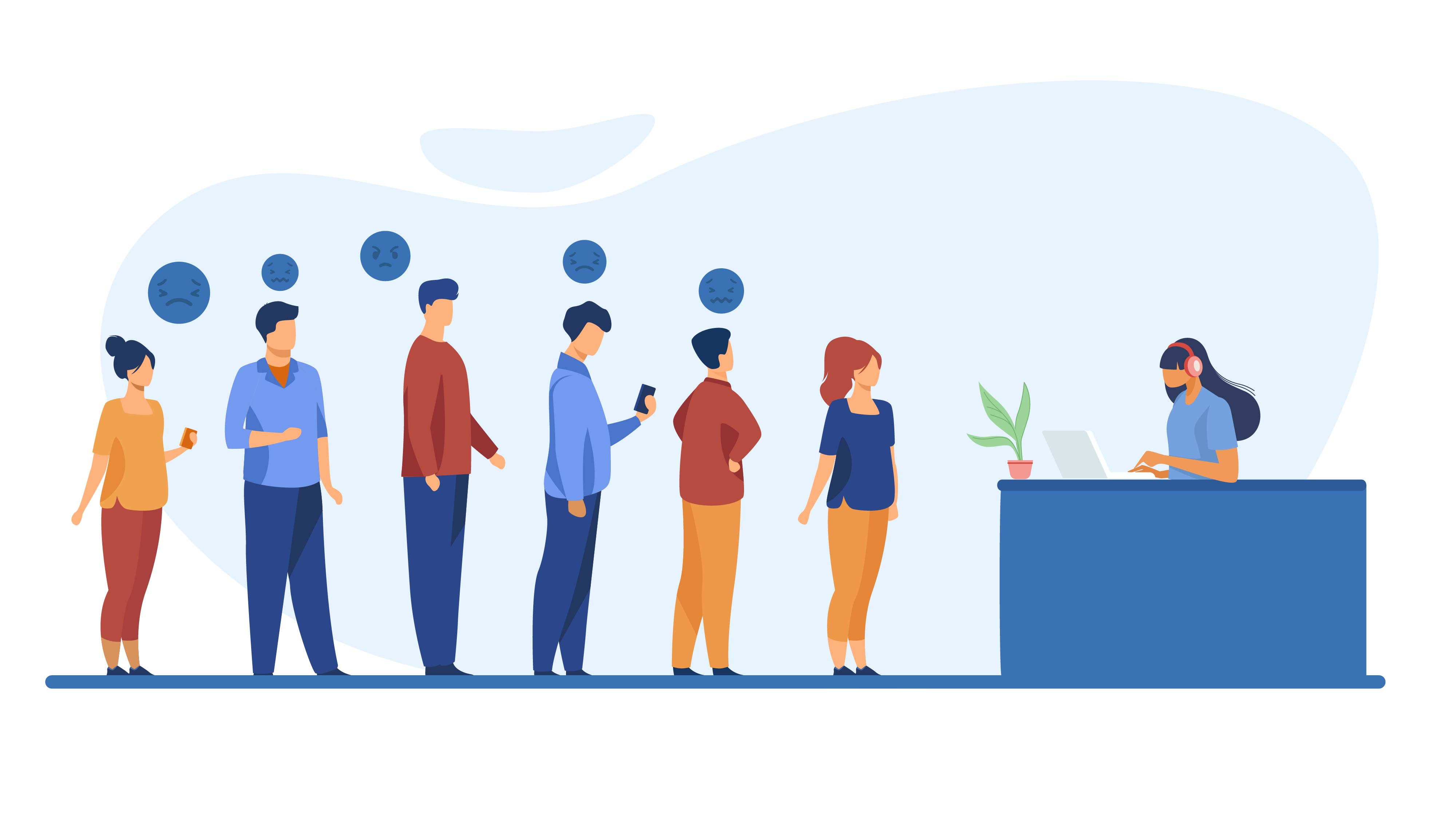 People in line - Animated Video
