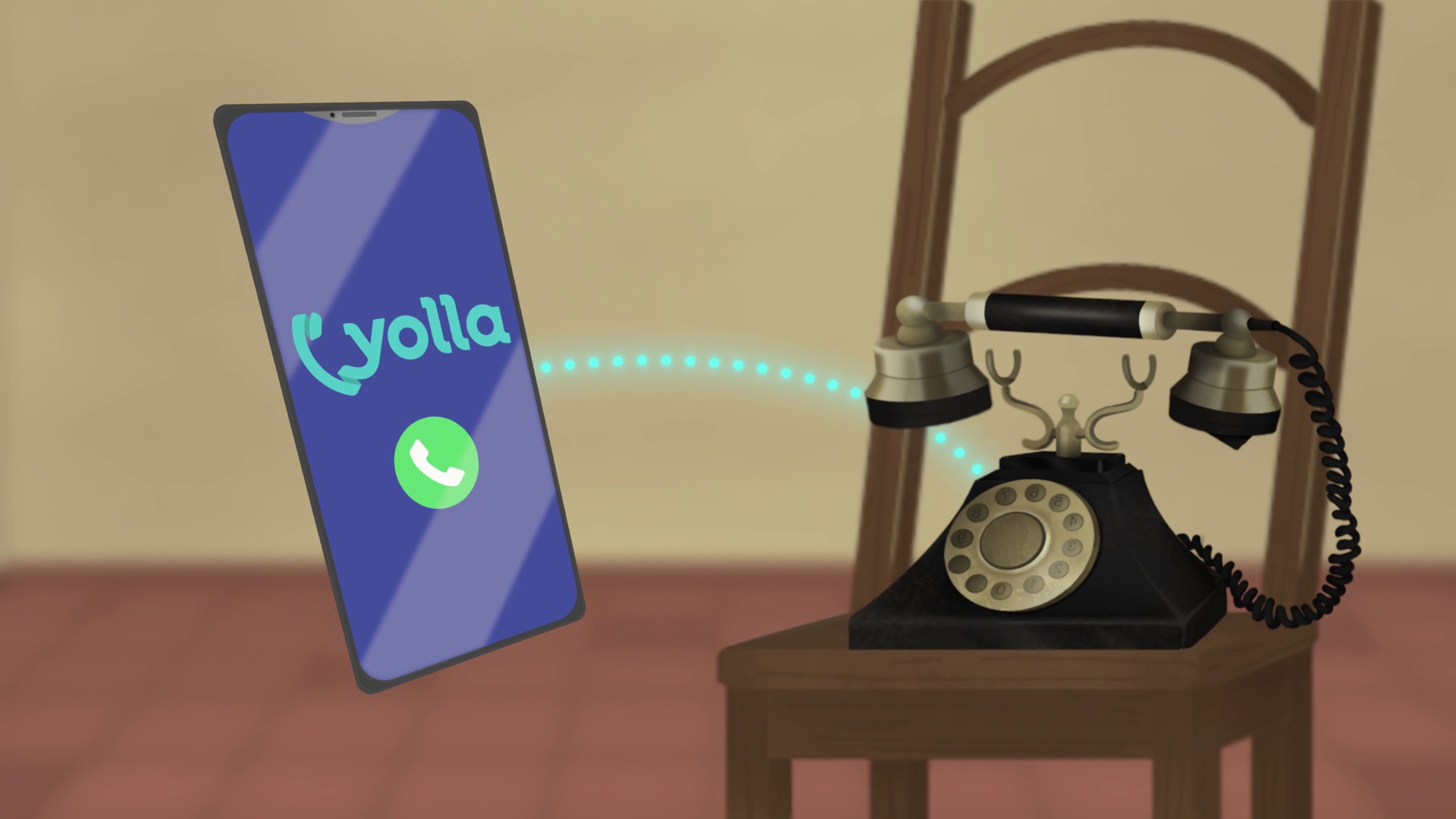 Yolla - cheap calls - Animation