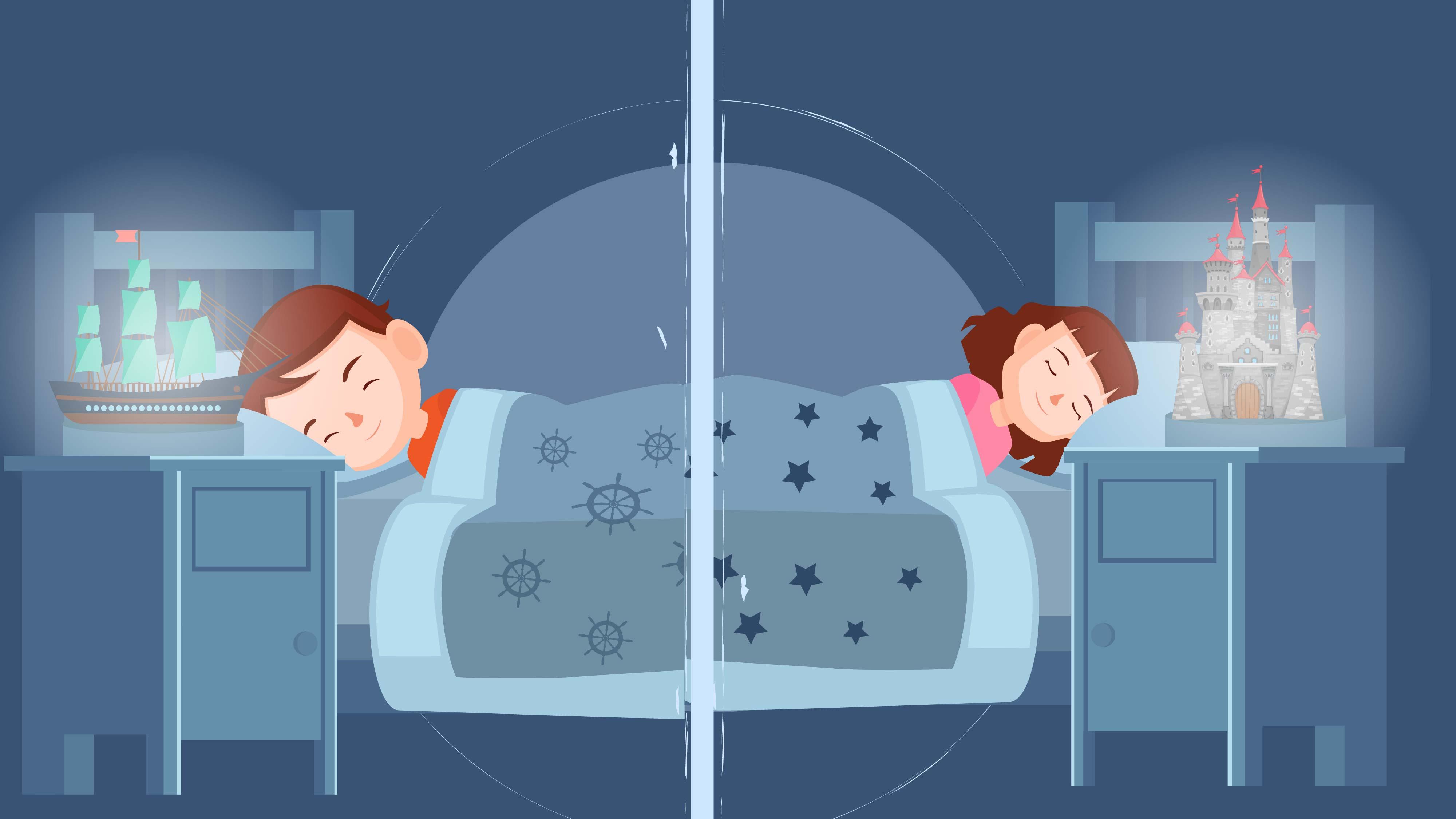 Kids are sleeping. Modern animation