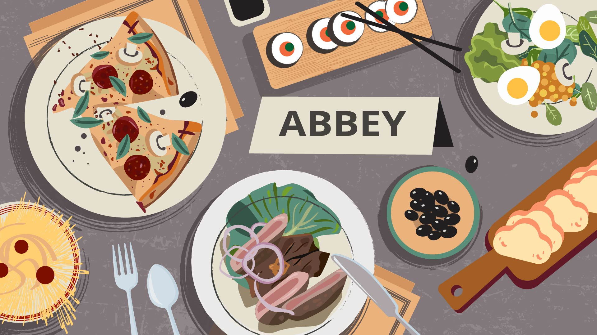 Abbey. A Spotify for Meals. 2D Animated Video