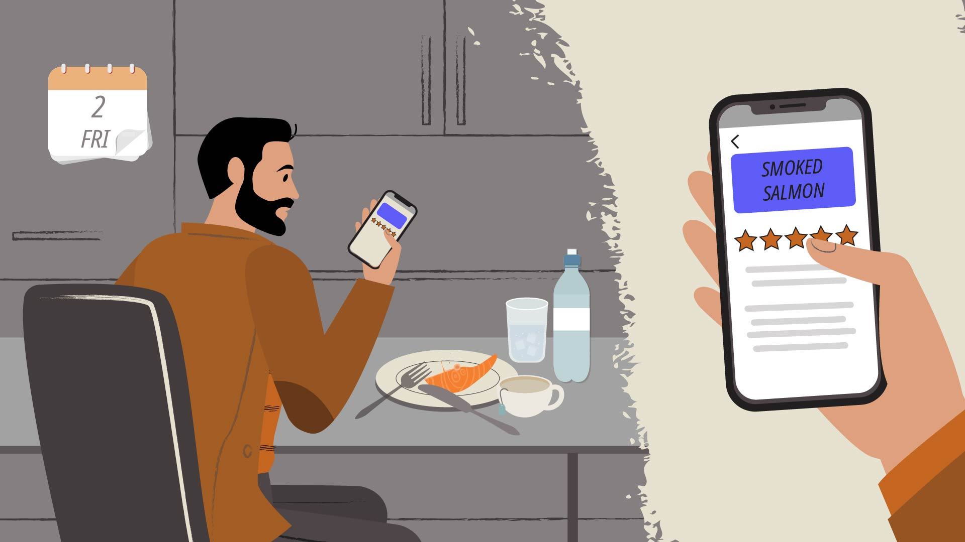 How to order food? - Video about the app