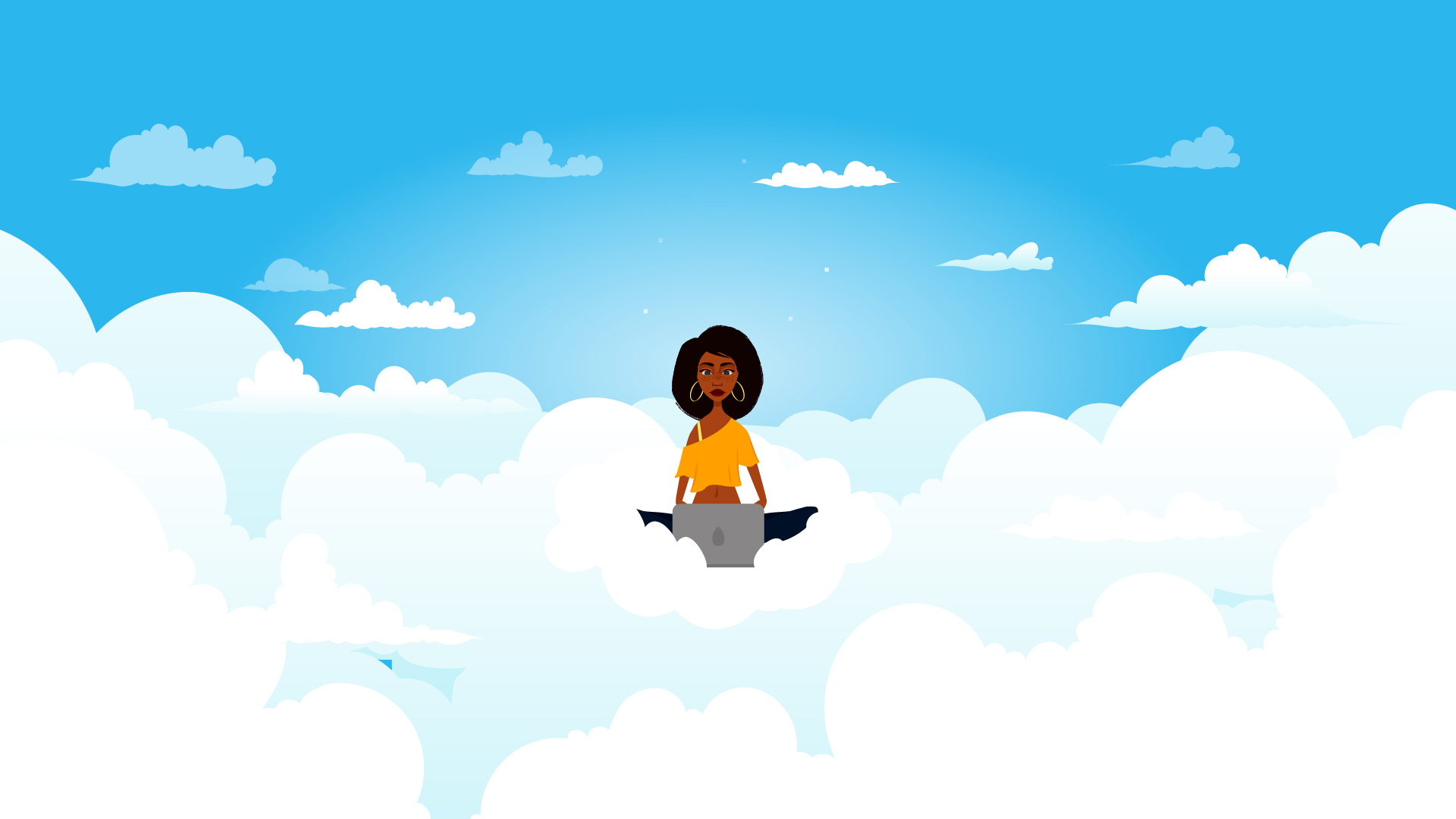 Girl in the clouds - Startup Video
