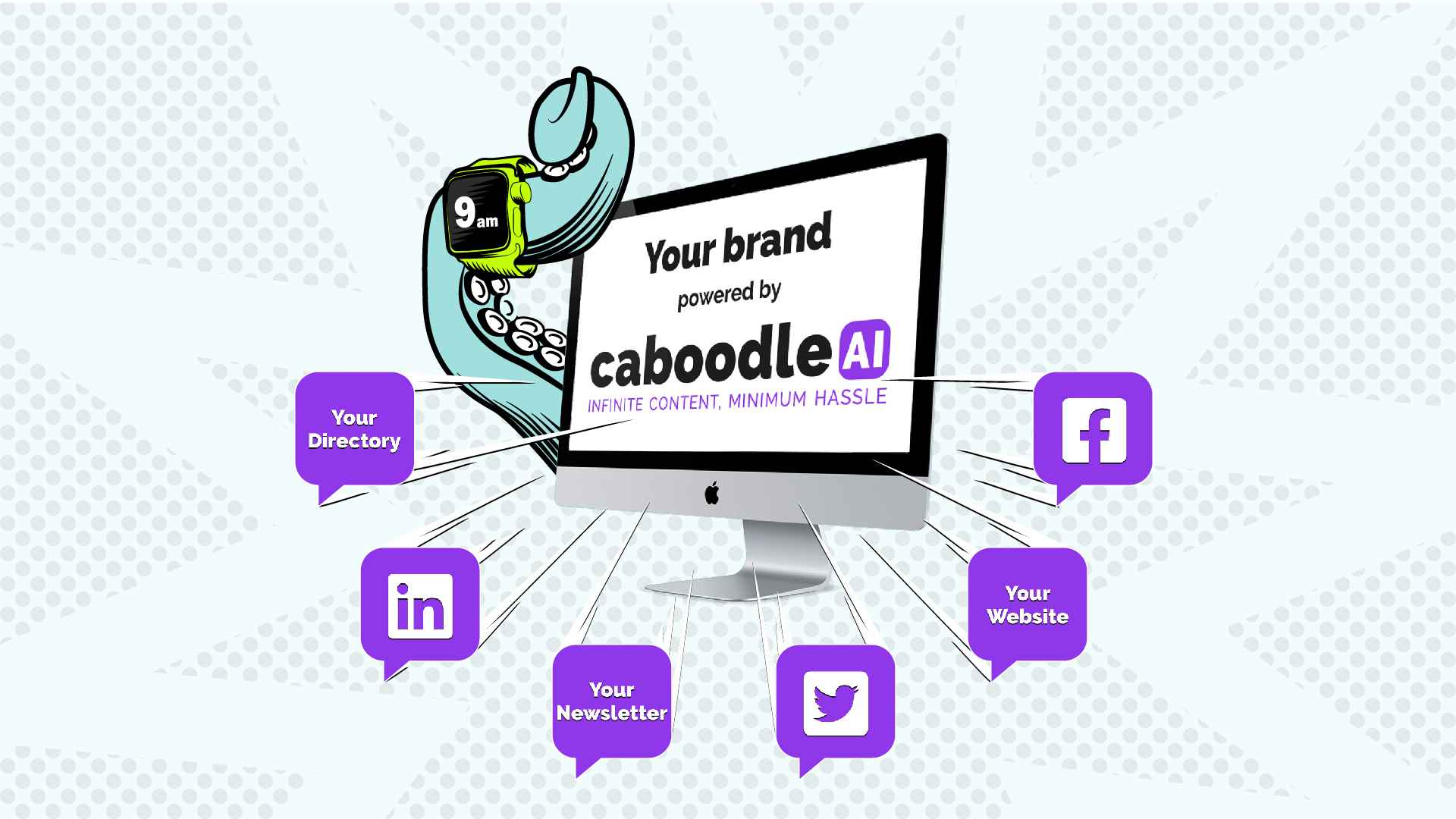 Caboodle AI service for creating content in all social media