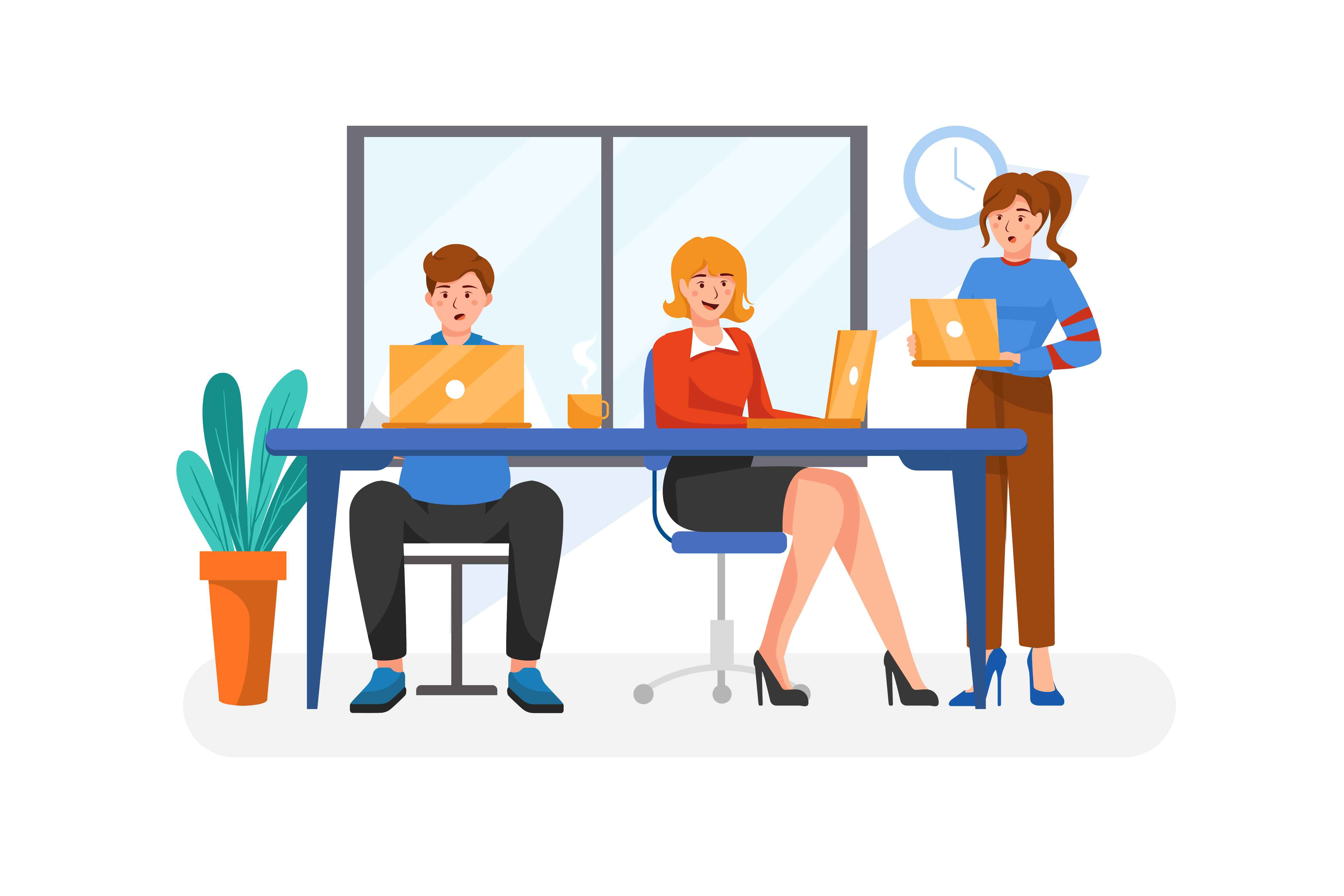 Office workers - an article about the Best Animation Studios