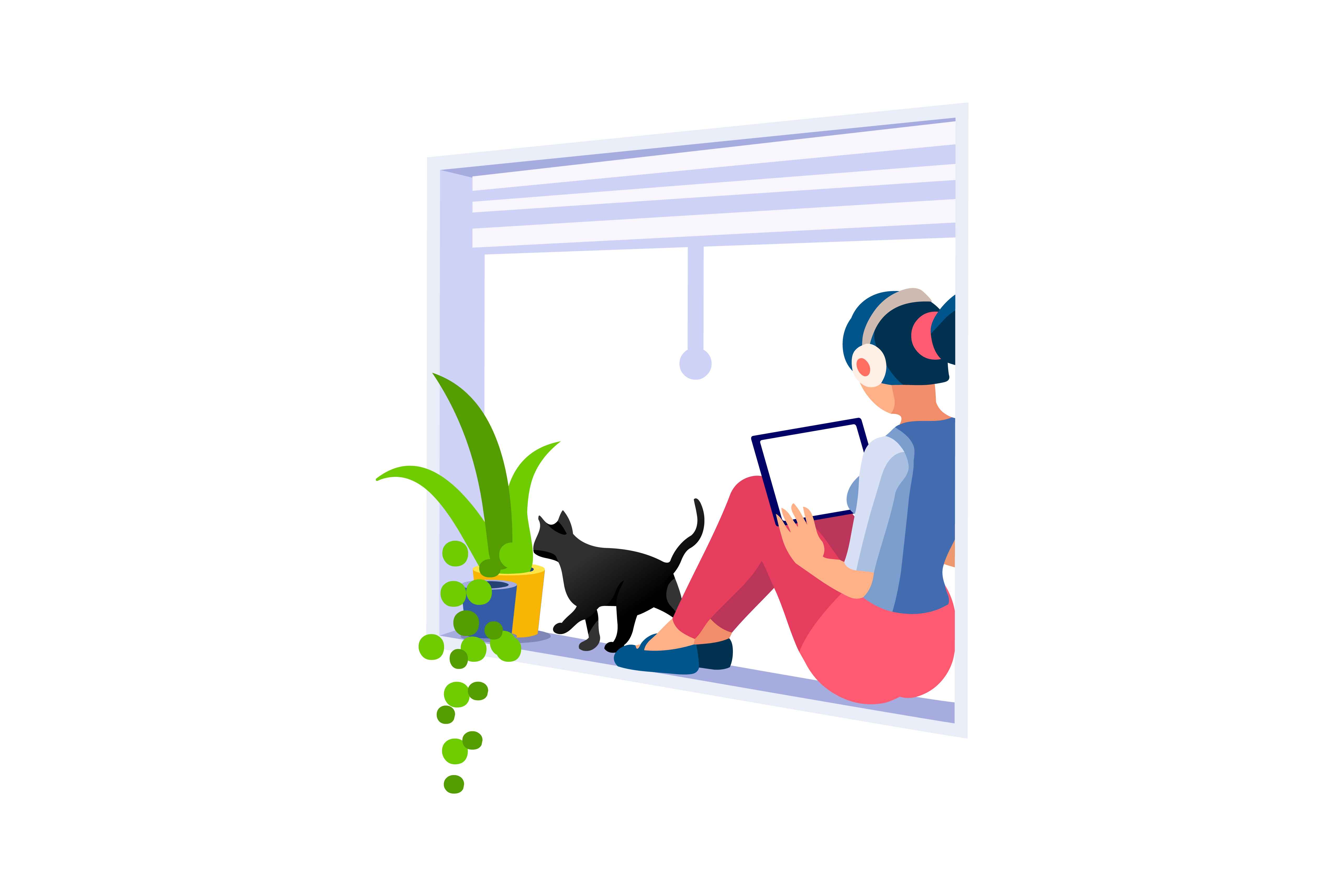 Girl with Cat in article Right Animation Studio