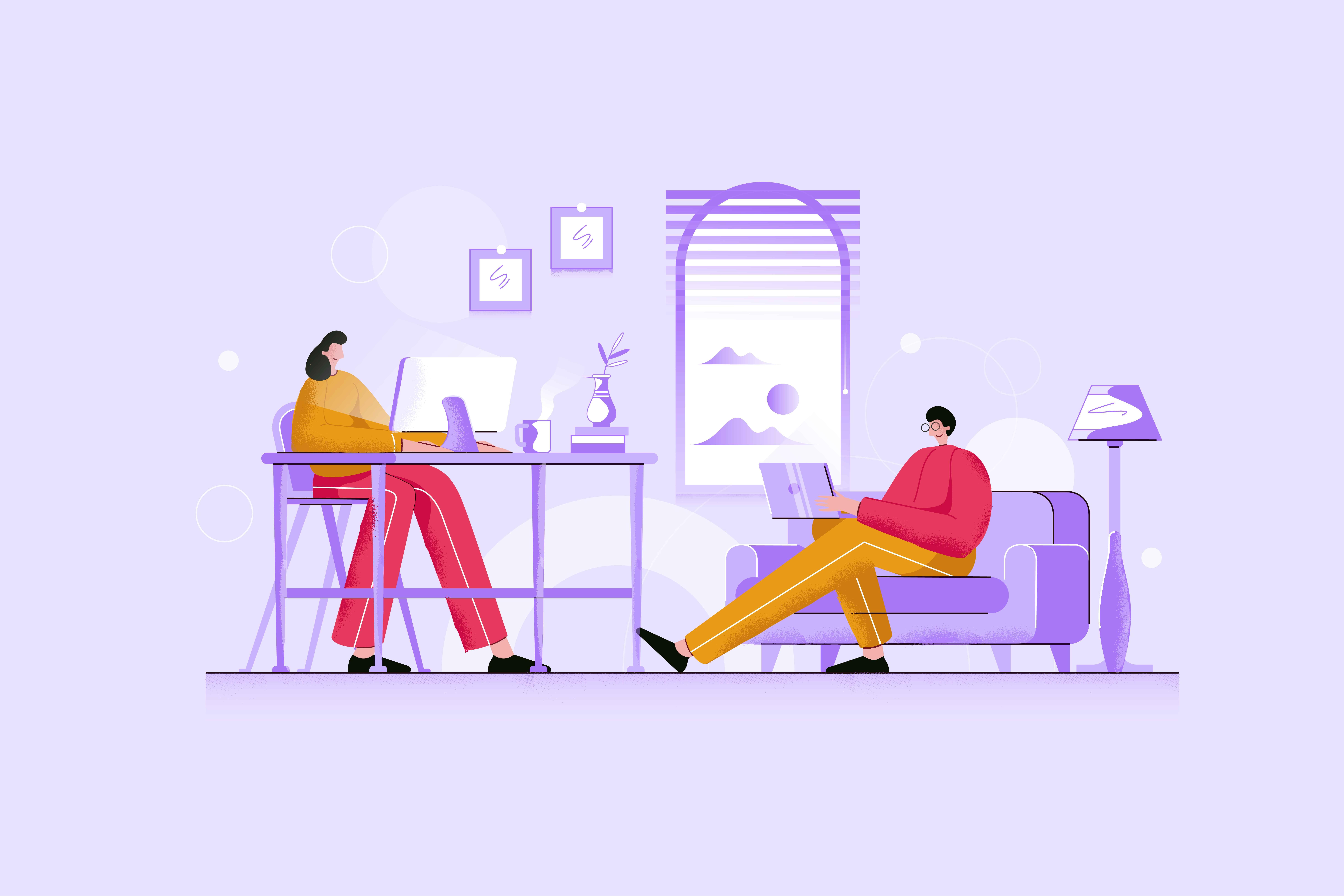 People Work - Animated Image