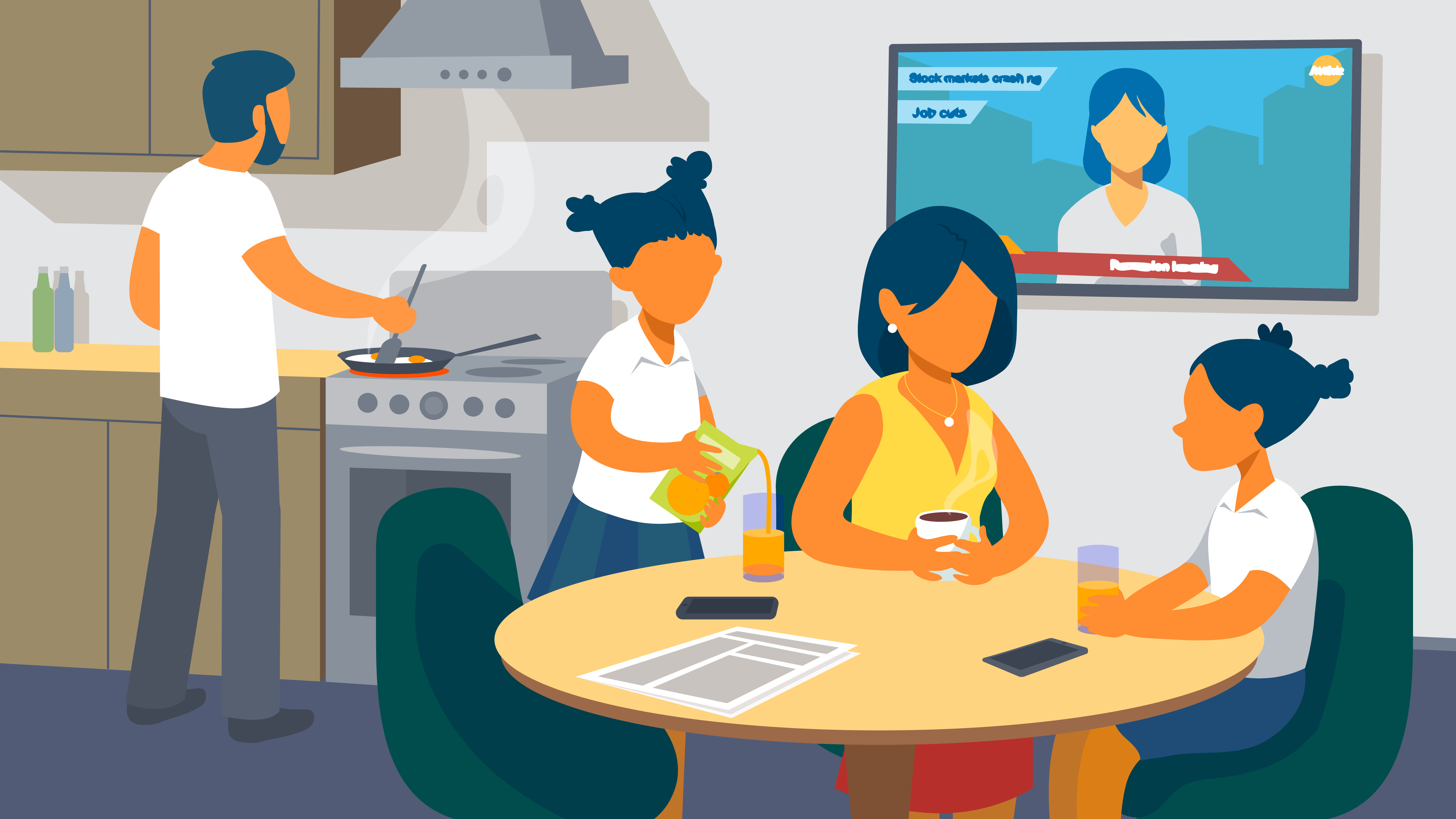 Family gatherings in Animated Explainer Video