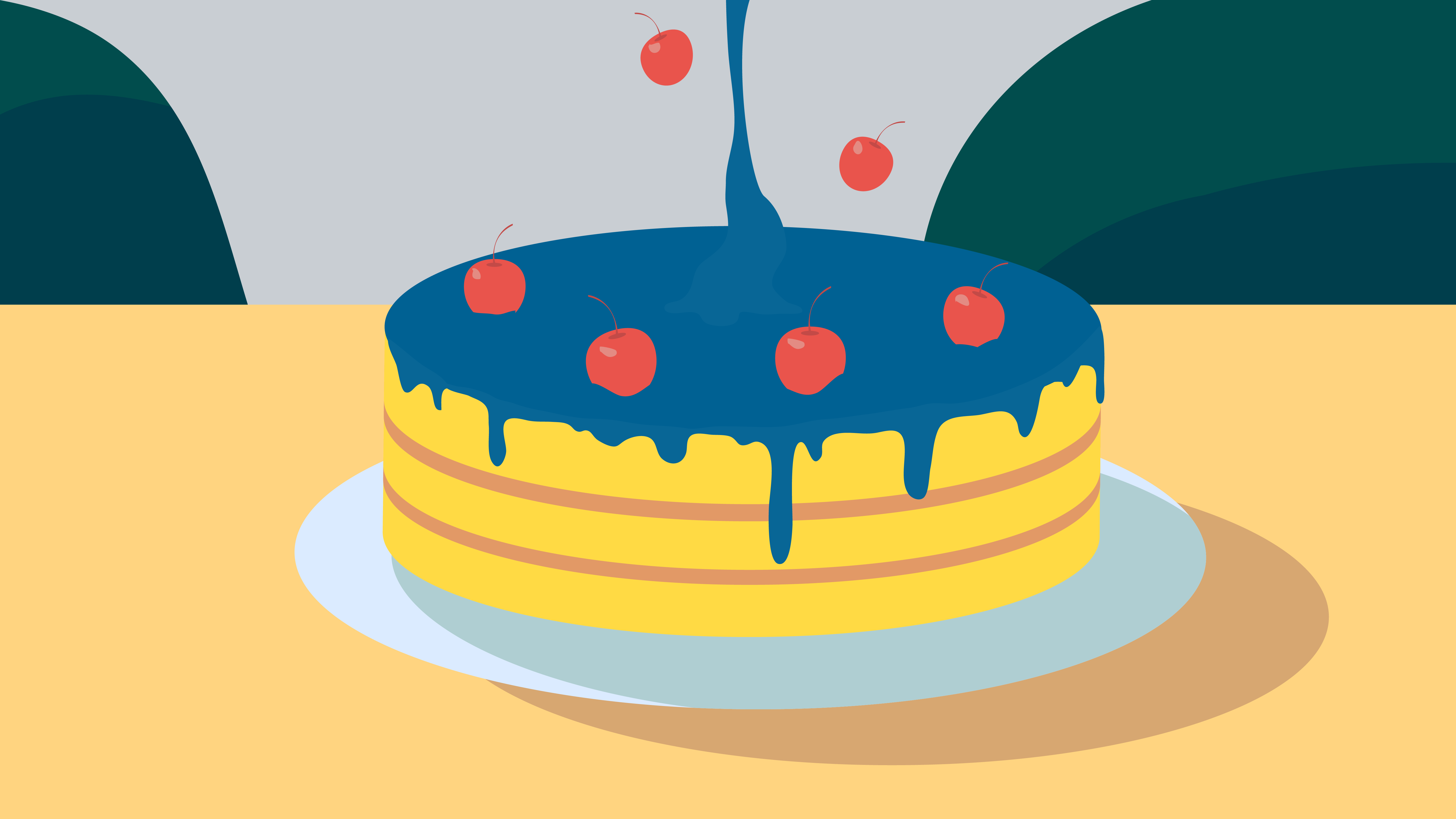 """Beautiful cake in the video """"Your financial future"""""""
