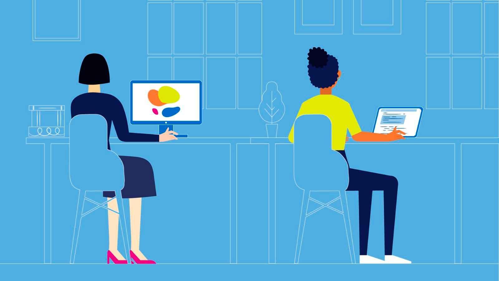 People work in Corporate Video