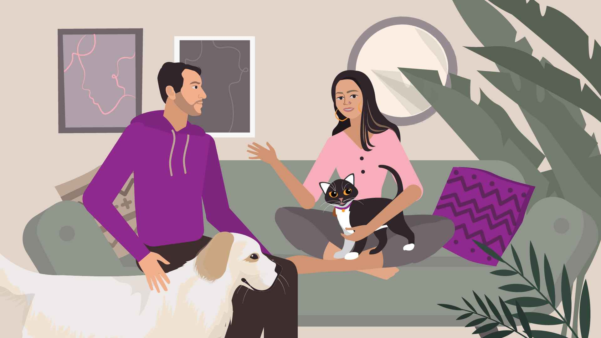 Pets in Animated Advertising Video
