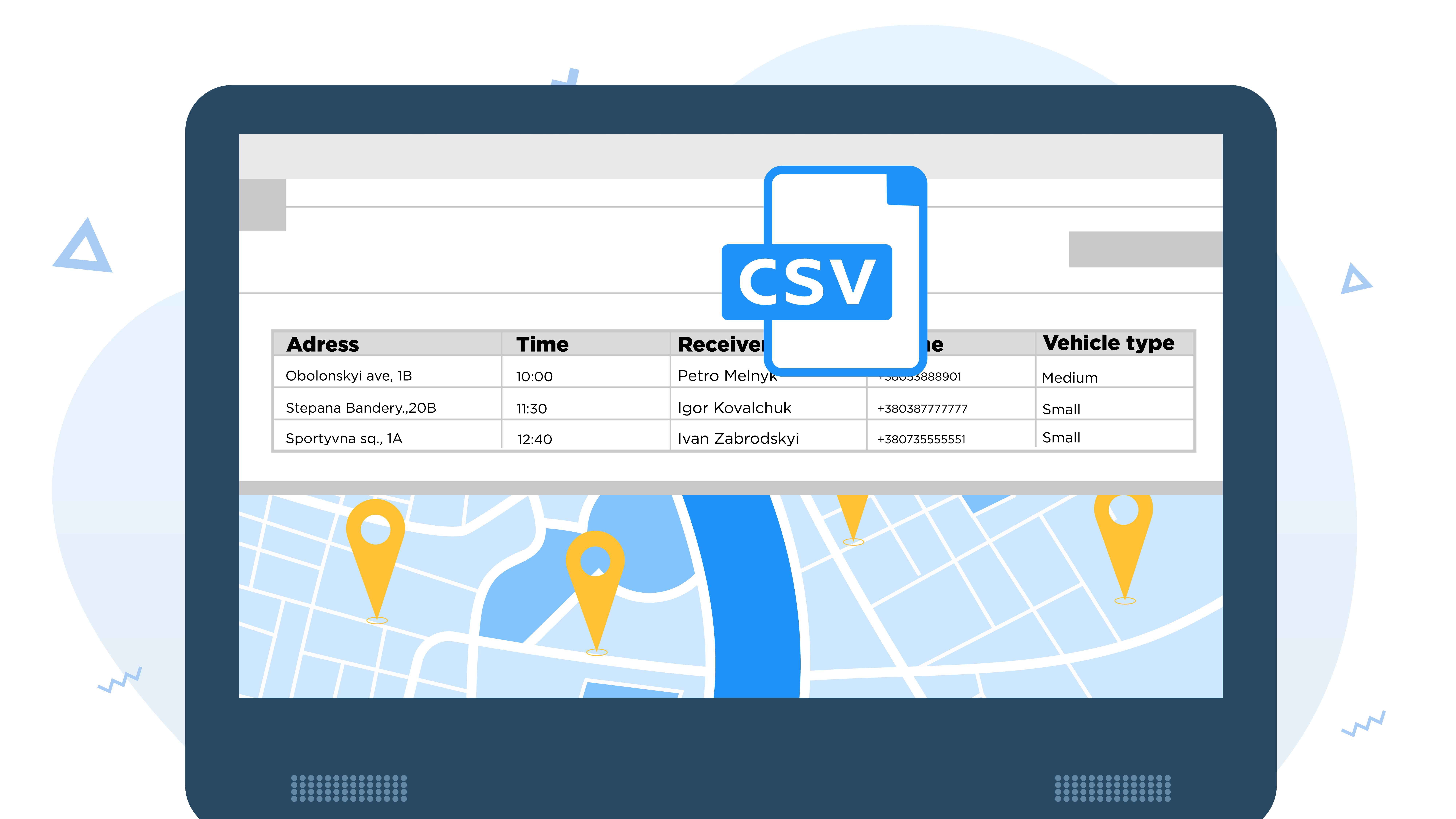 Online application for tracking delivery