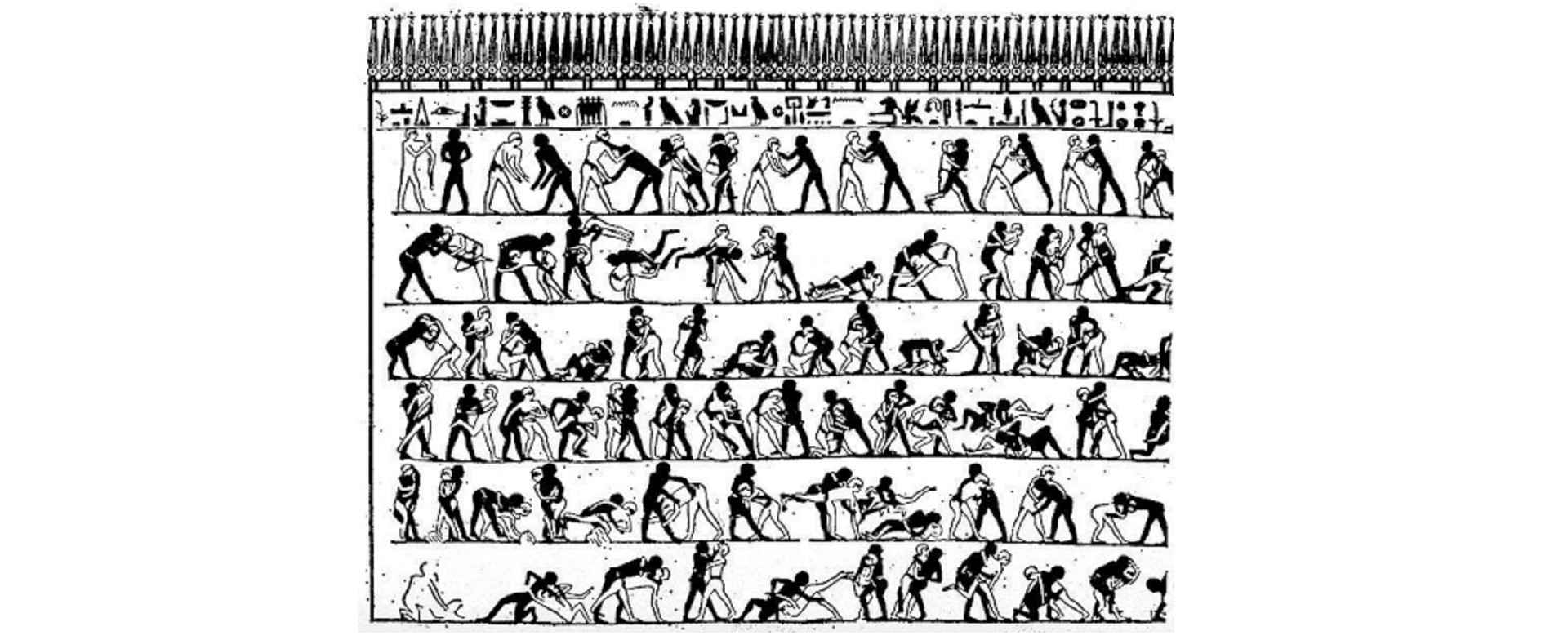 Egyptian mural in an article on the History of Animation