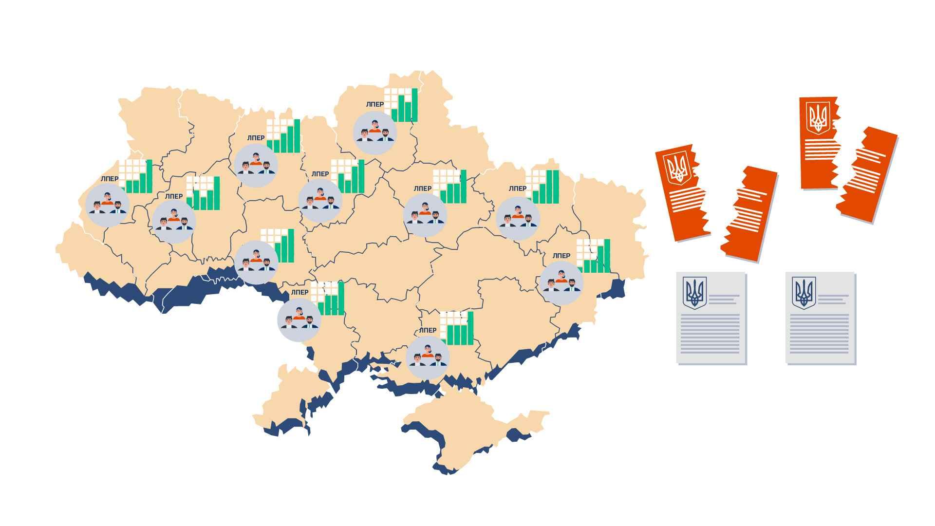 Map of Ukraine in Marketing Video
