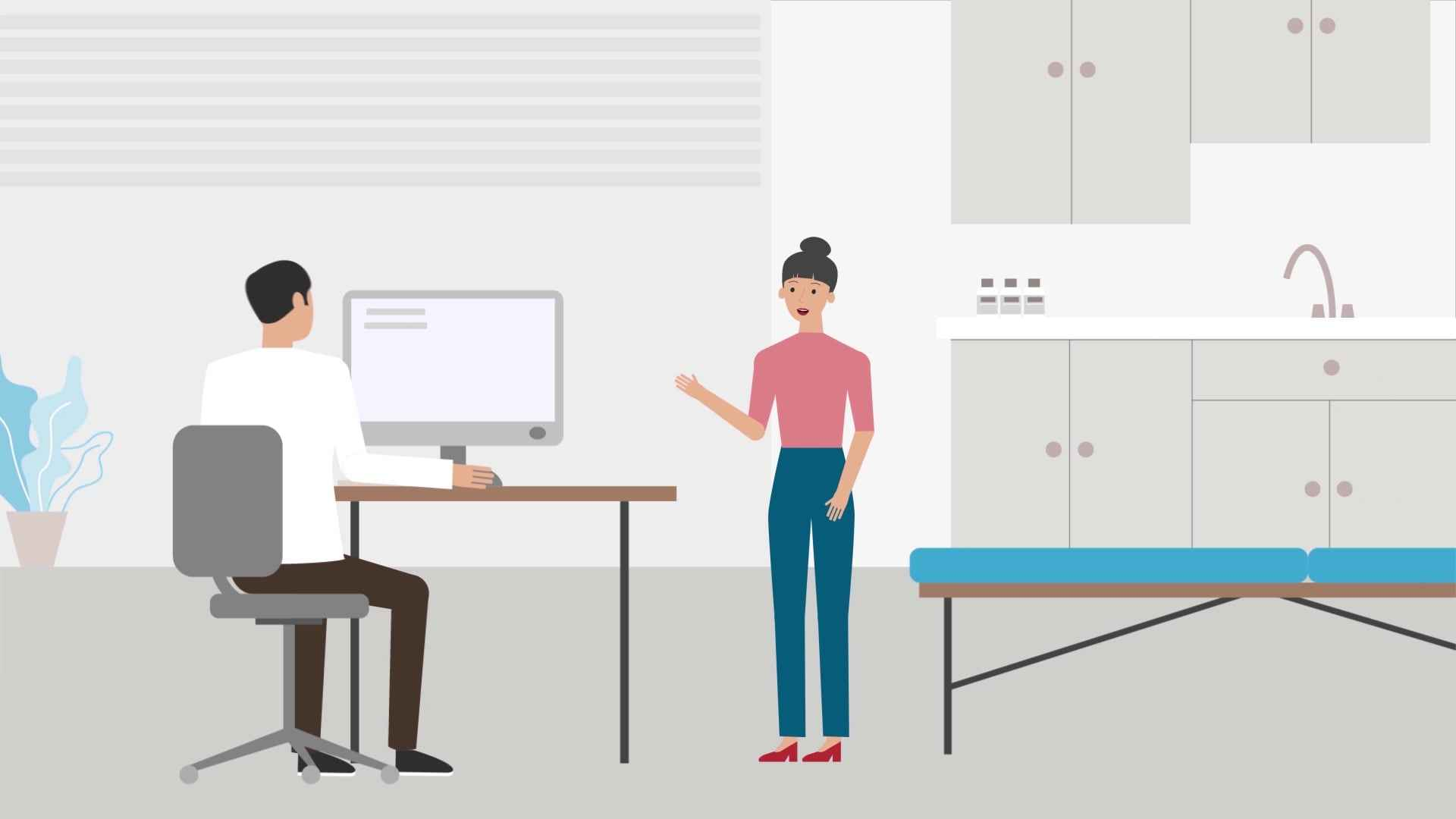 Doctor's appointment - character animation