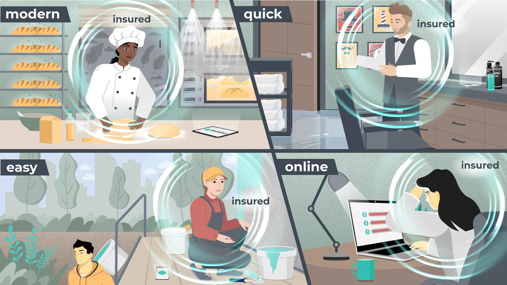 People work in Insurance Video