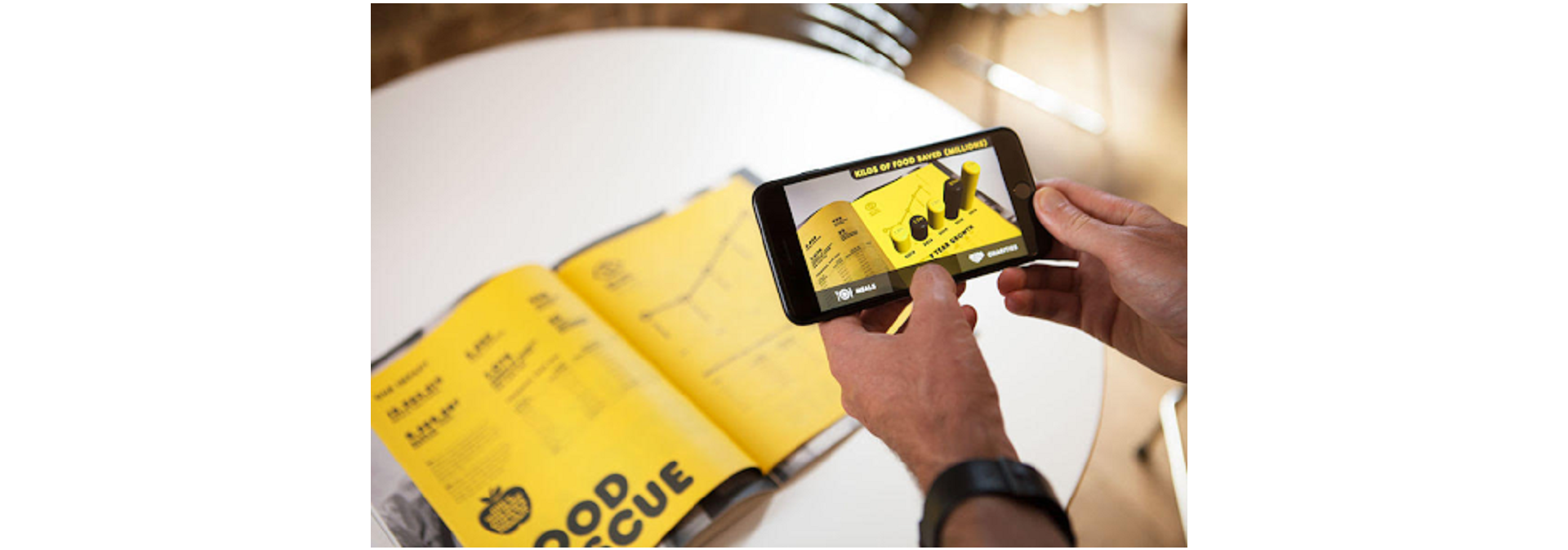 AR used to make the infographics in books live