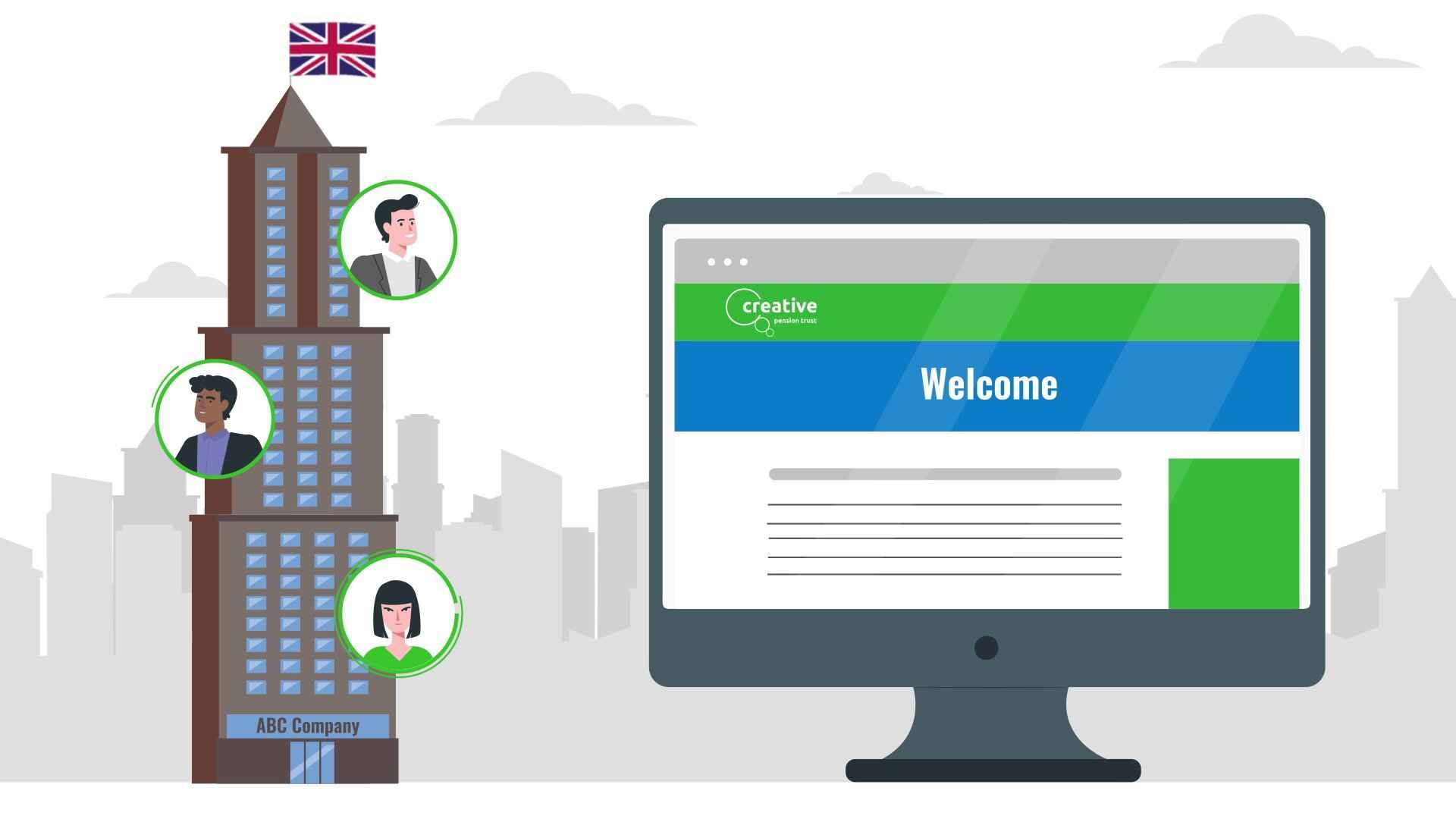 Retirement online platform in Video Infographics