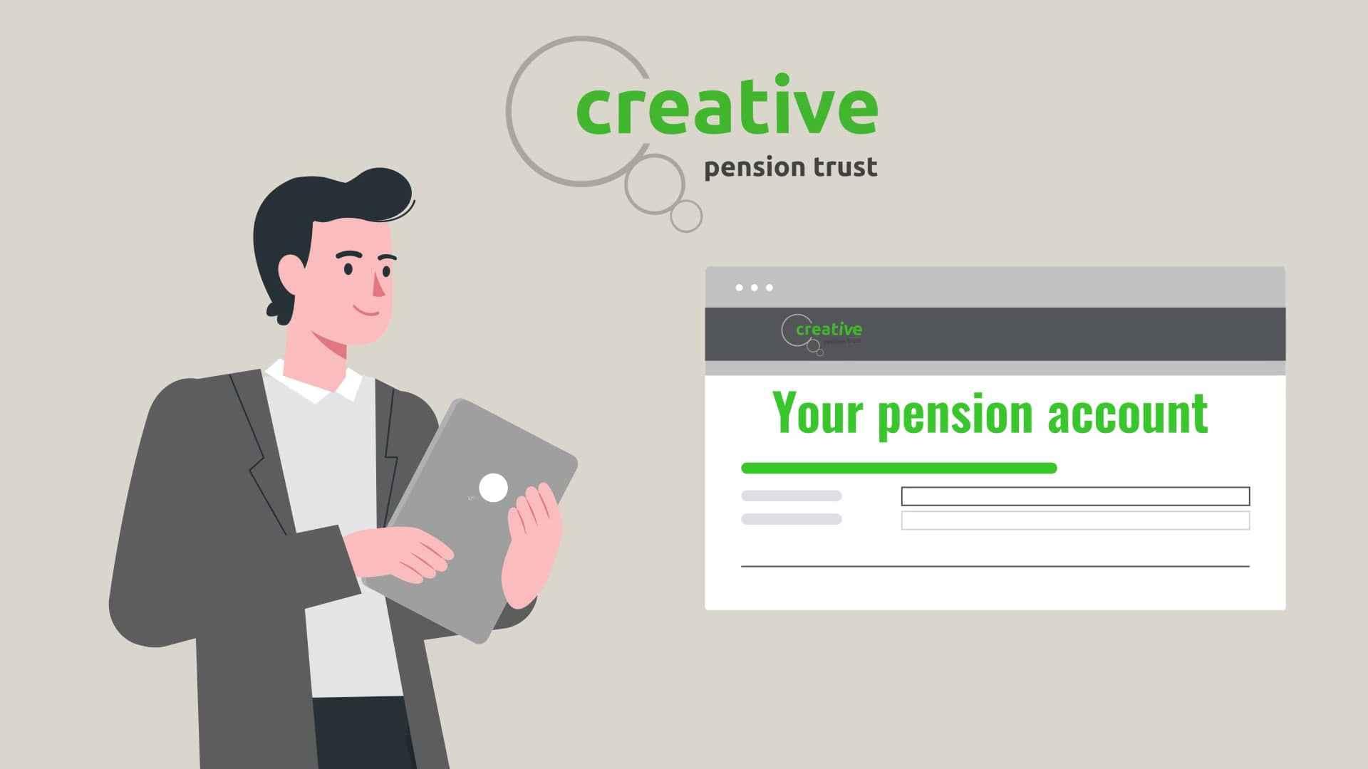 Retirement platform in Video Infographics