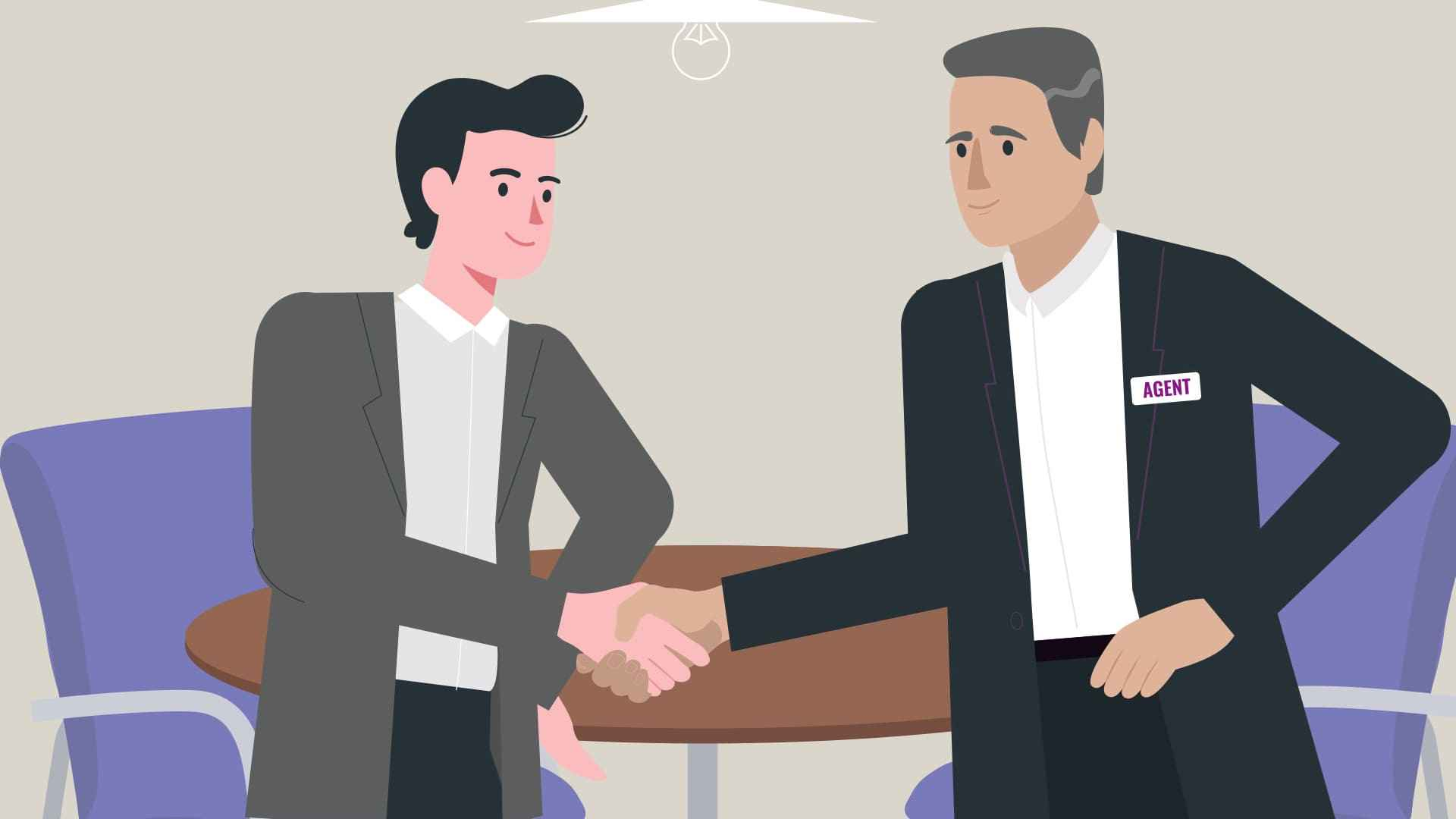 Reaching an agreement during negotiations in Animated Explainer Video