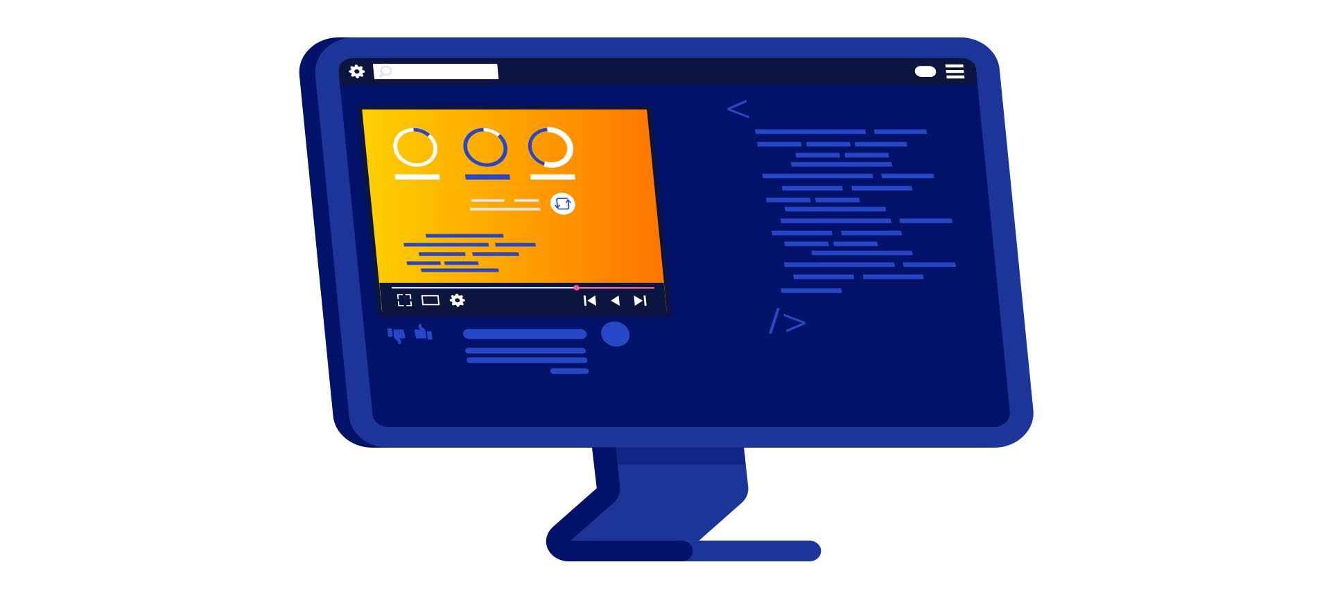 Illustration of web animation