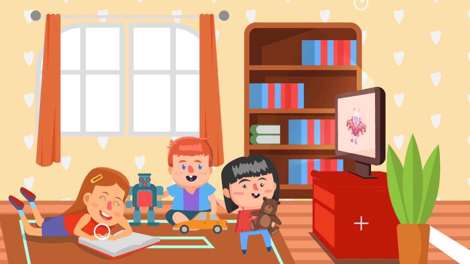 Children watch cartoons - animated videos for children