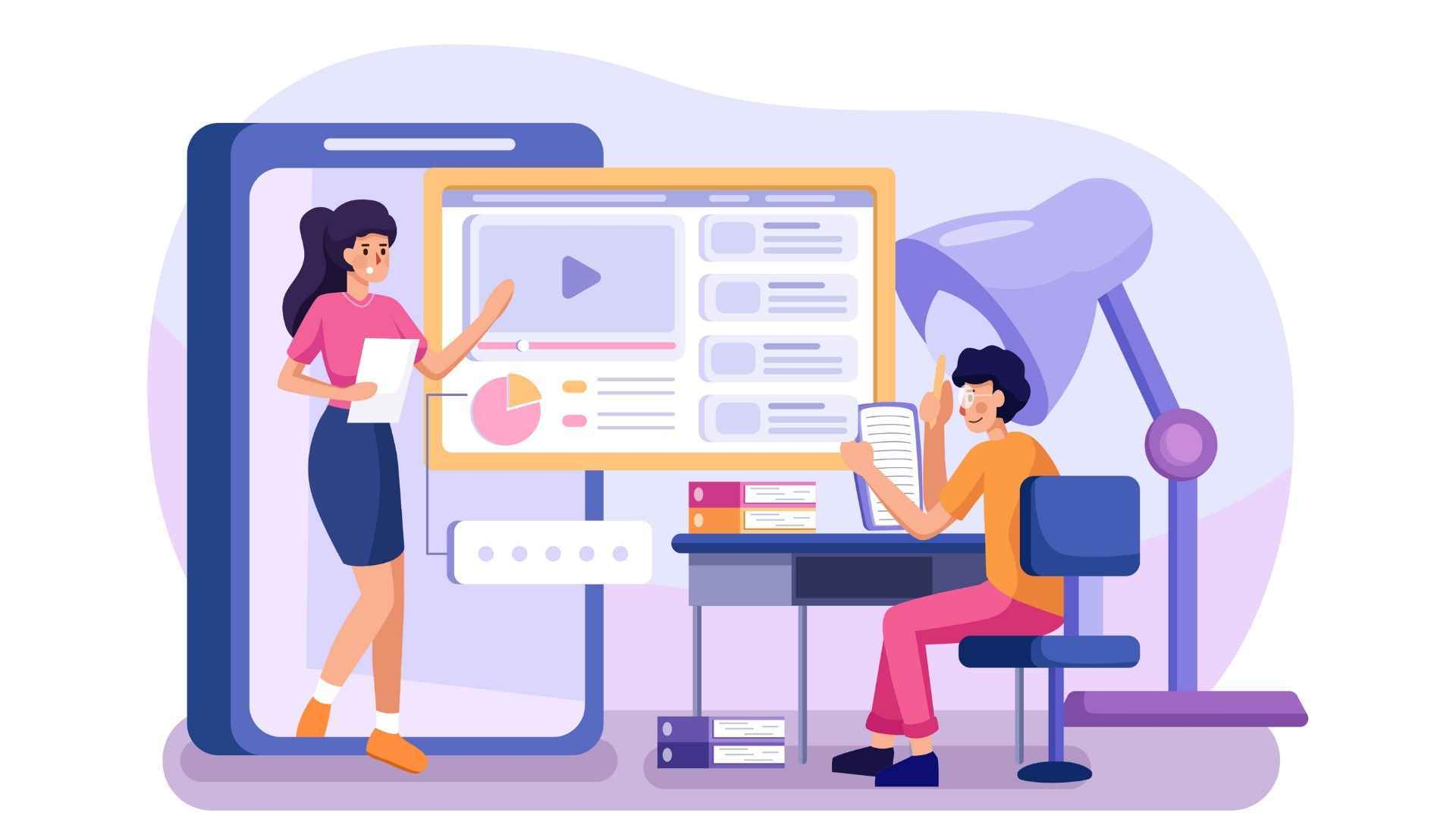 The process of learning from animated videos