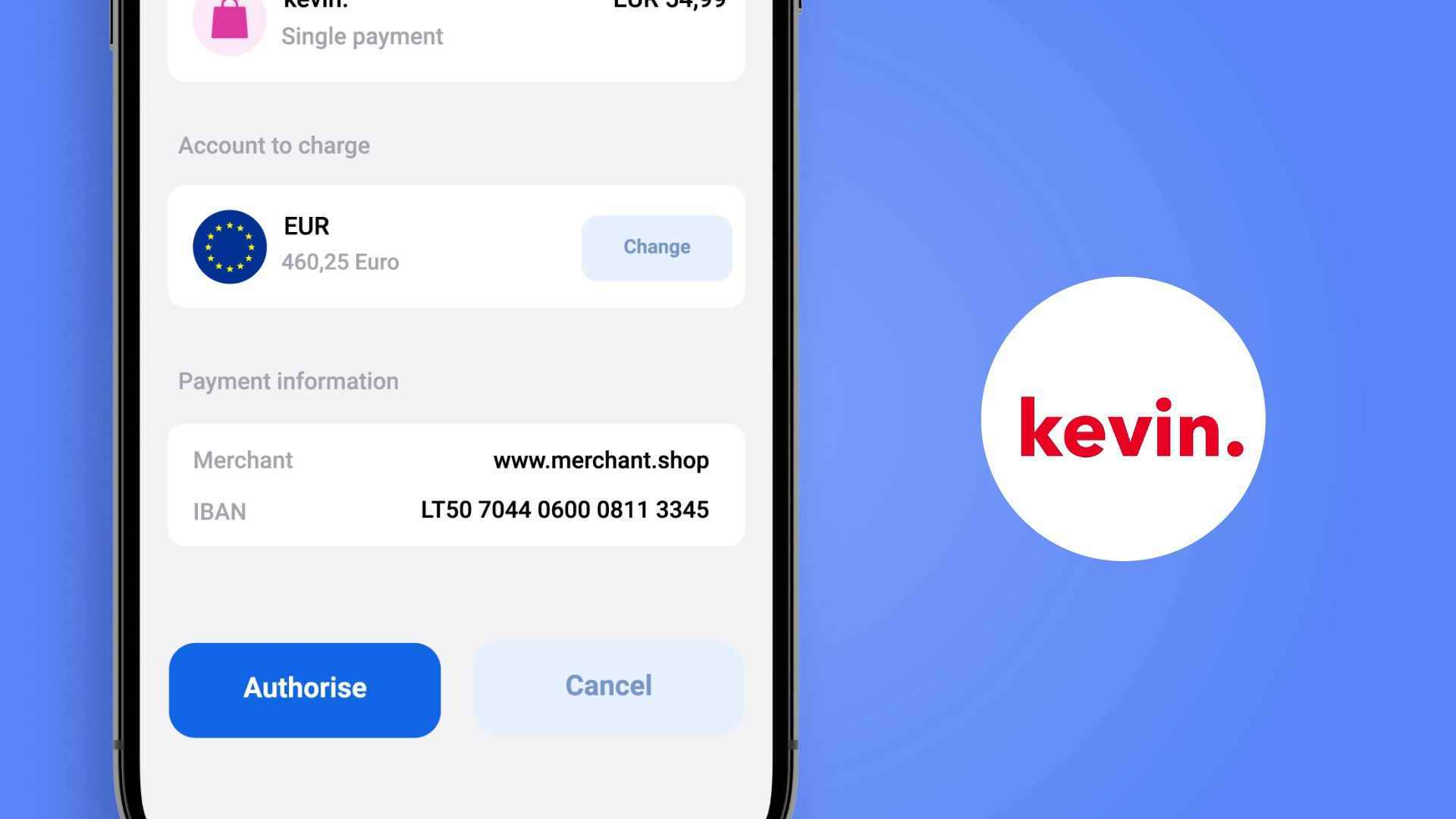 What does the Kevin app look like in the animated video