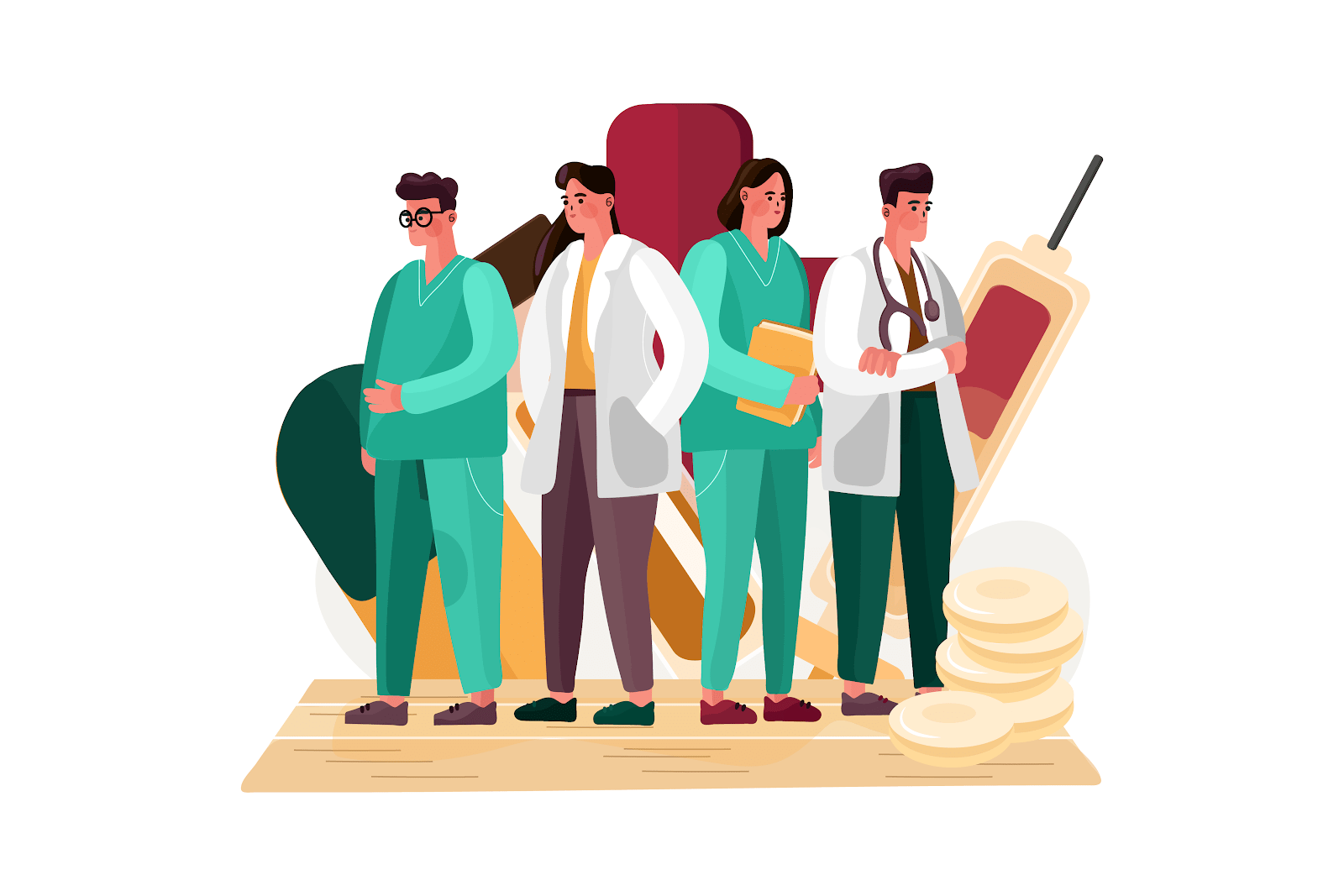 Medical workers - animation