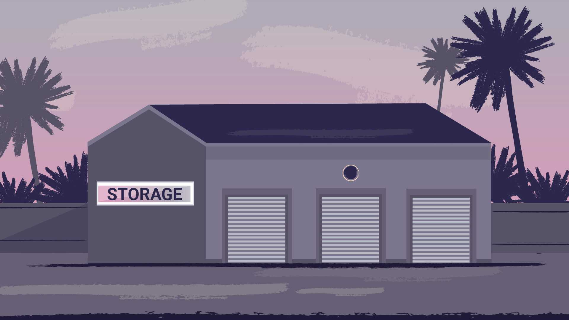 Animated image of a storage on a background of nature