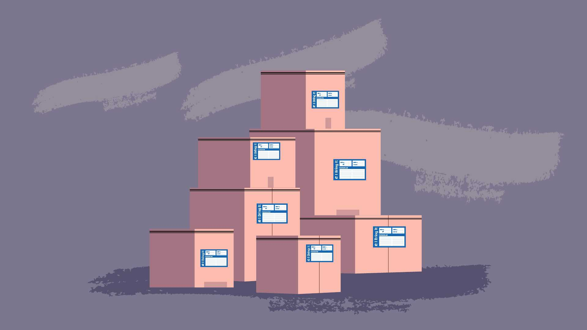 Folded boxes - Animated image of boxes