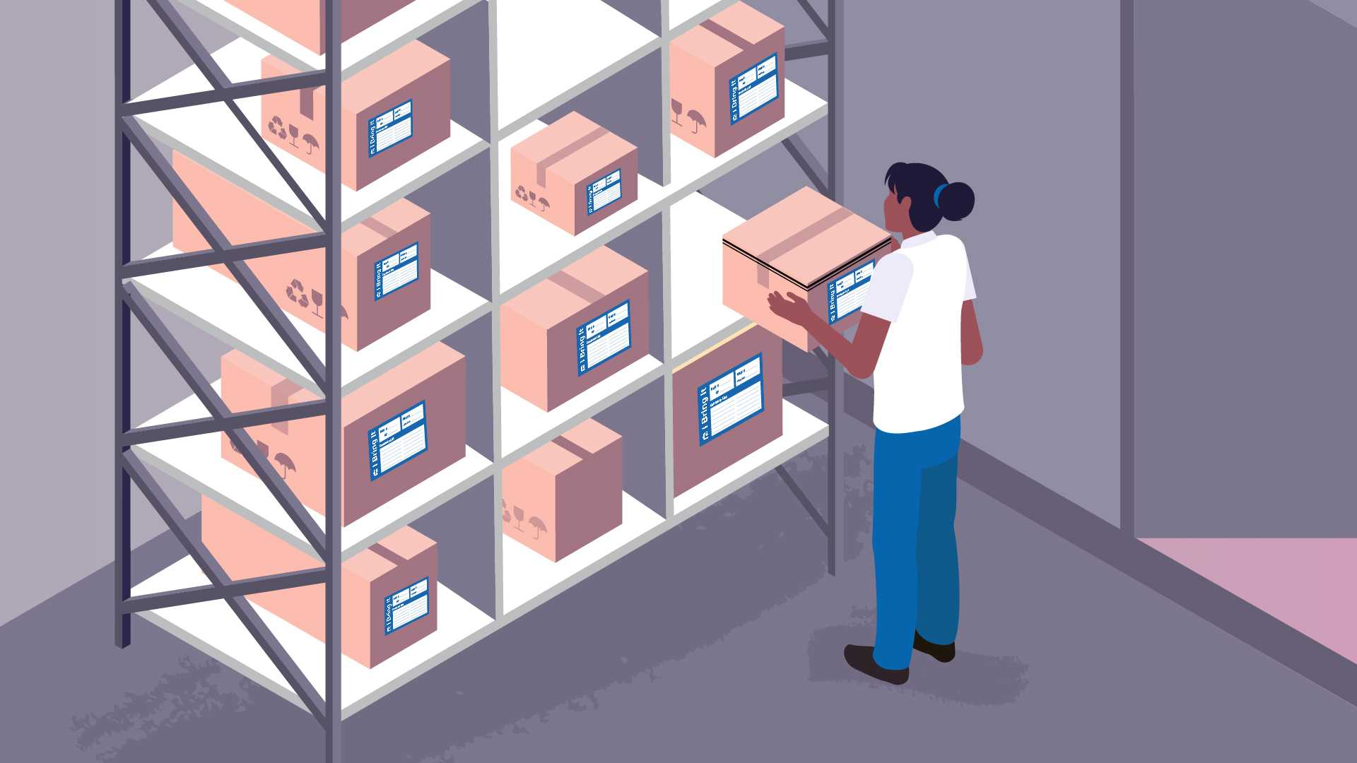 Neat storage of things - Animated video about delivery and transportation of things