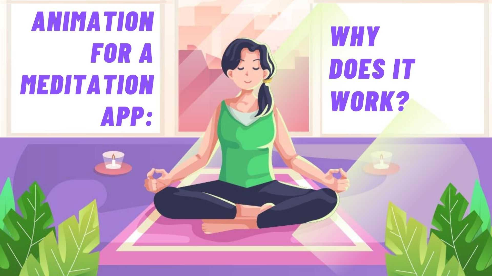 Meditation with meditation applications