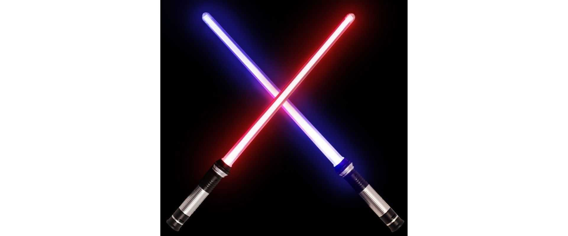 The glowing lightsaber effect in the Star Wars fil