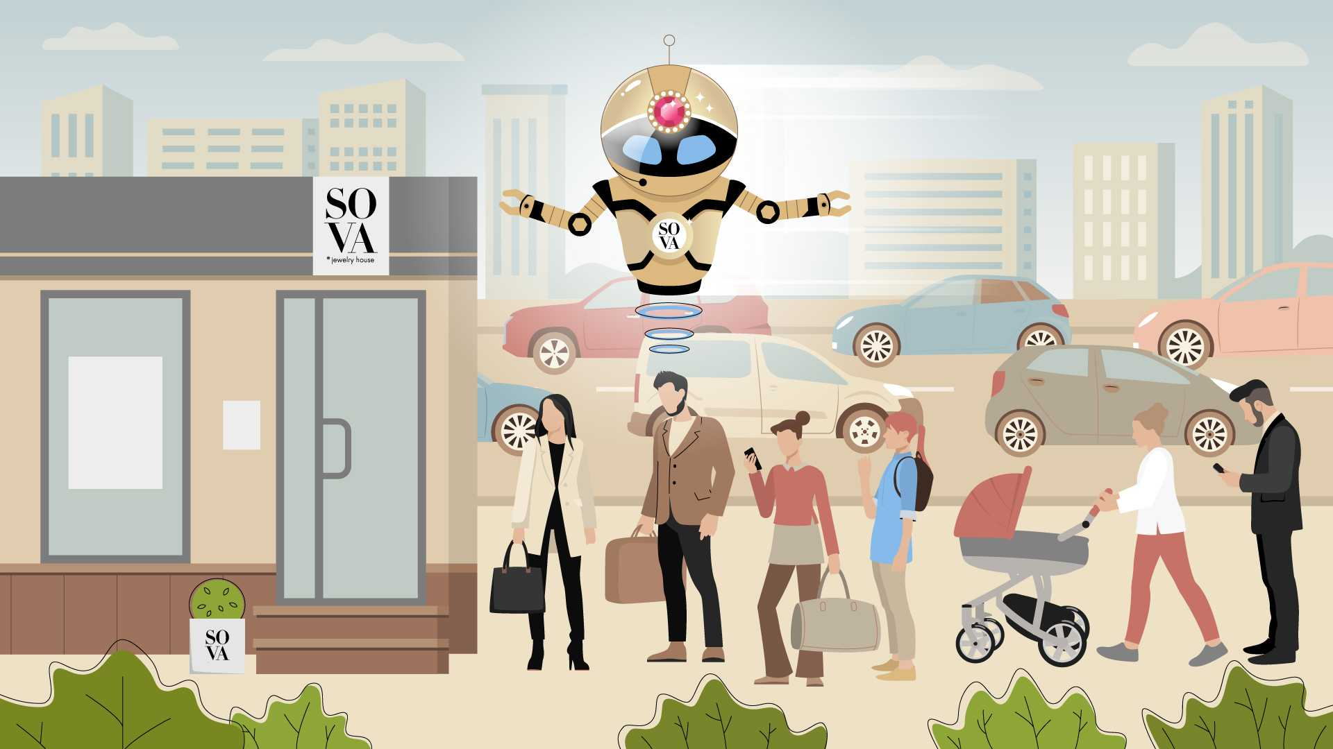How can you not stand in line and buy the necessary things - Animated Video
