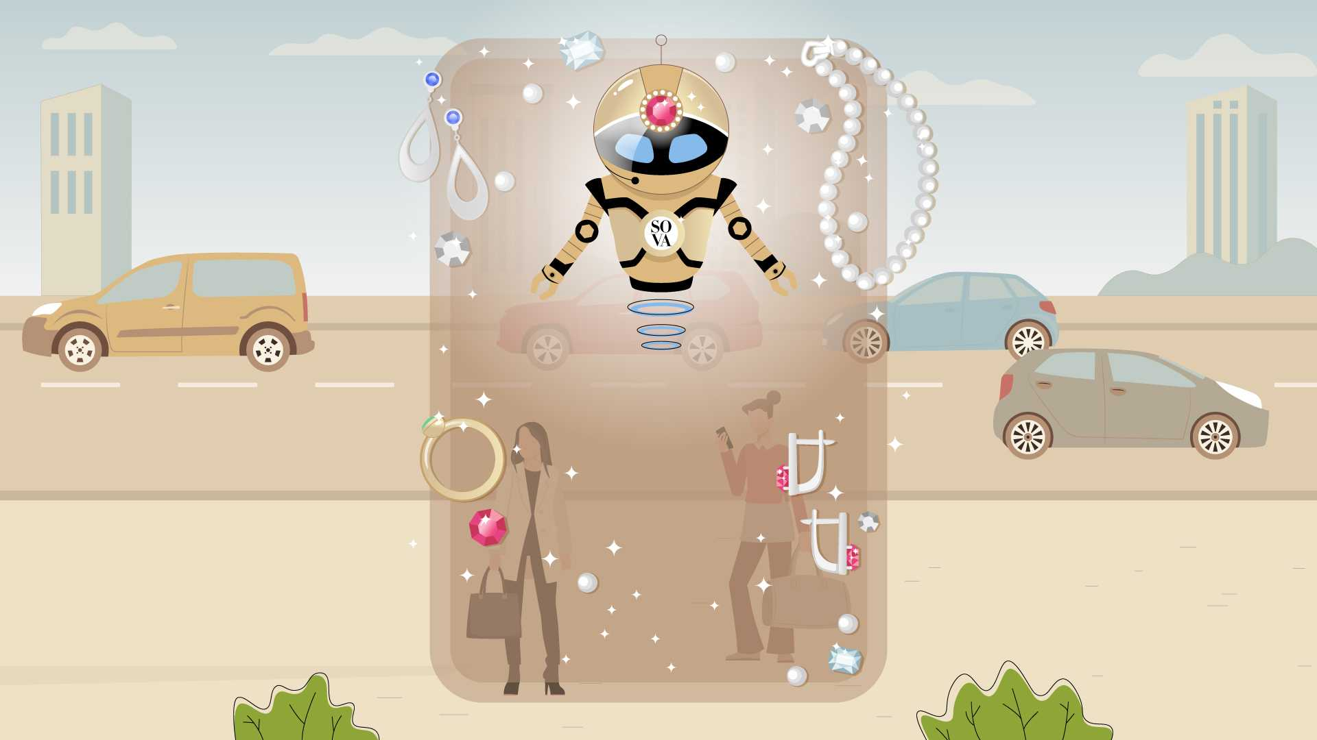 Shop app SOVA - Animated screenshot