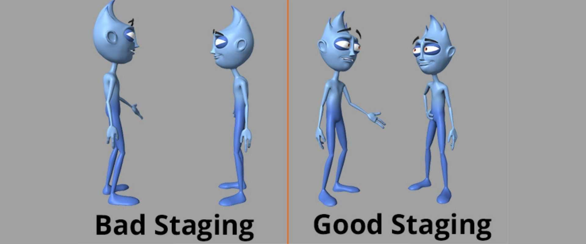 An example of good staging and bad staging