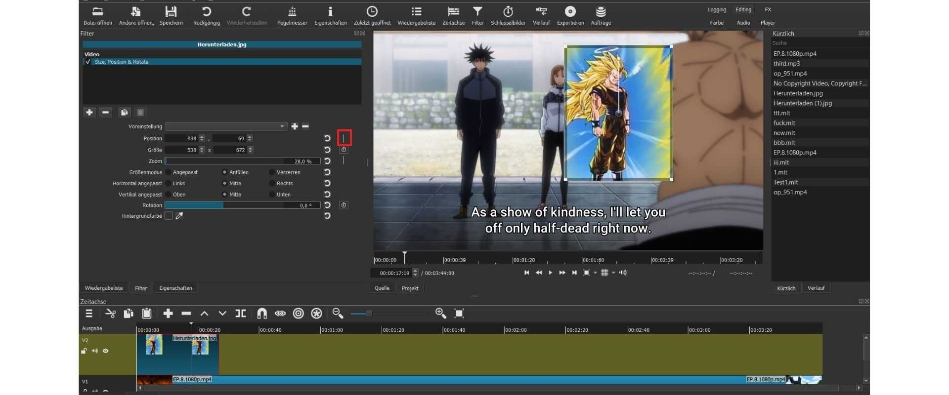 Timeline in animation