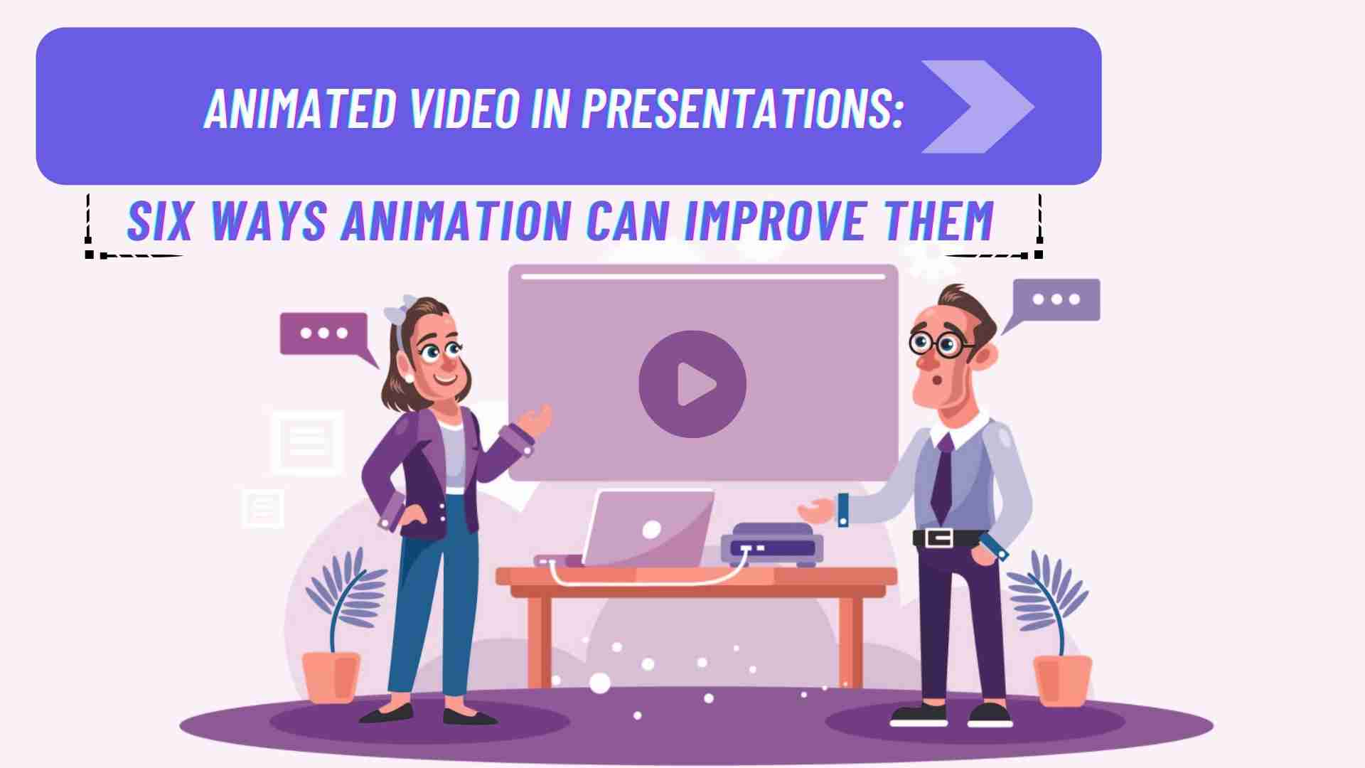 People watching Animated Video Presentation