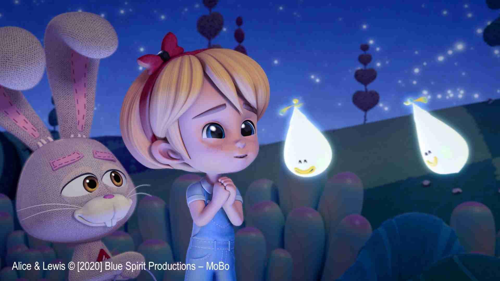 Animated cartoon characters Alice & Lewis