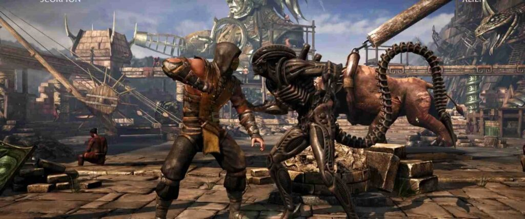 Animation: Fight in Game Mortal Kombat