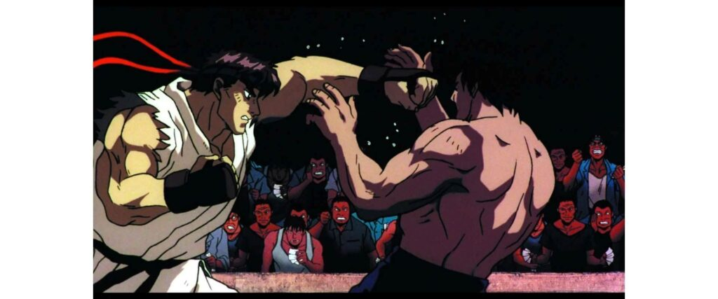 8 Bit animation in Street Fighter II: The Animated Movie