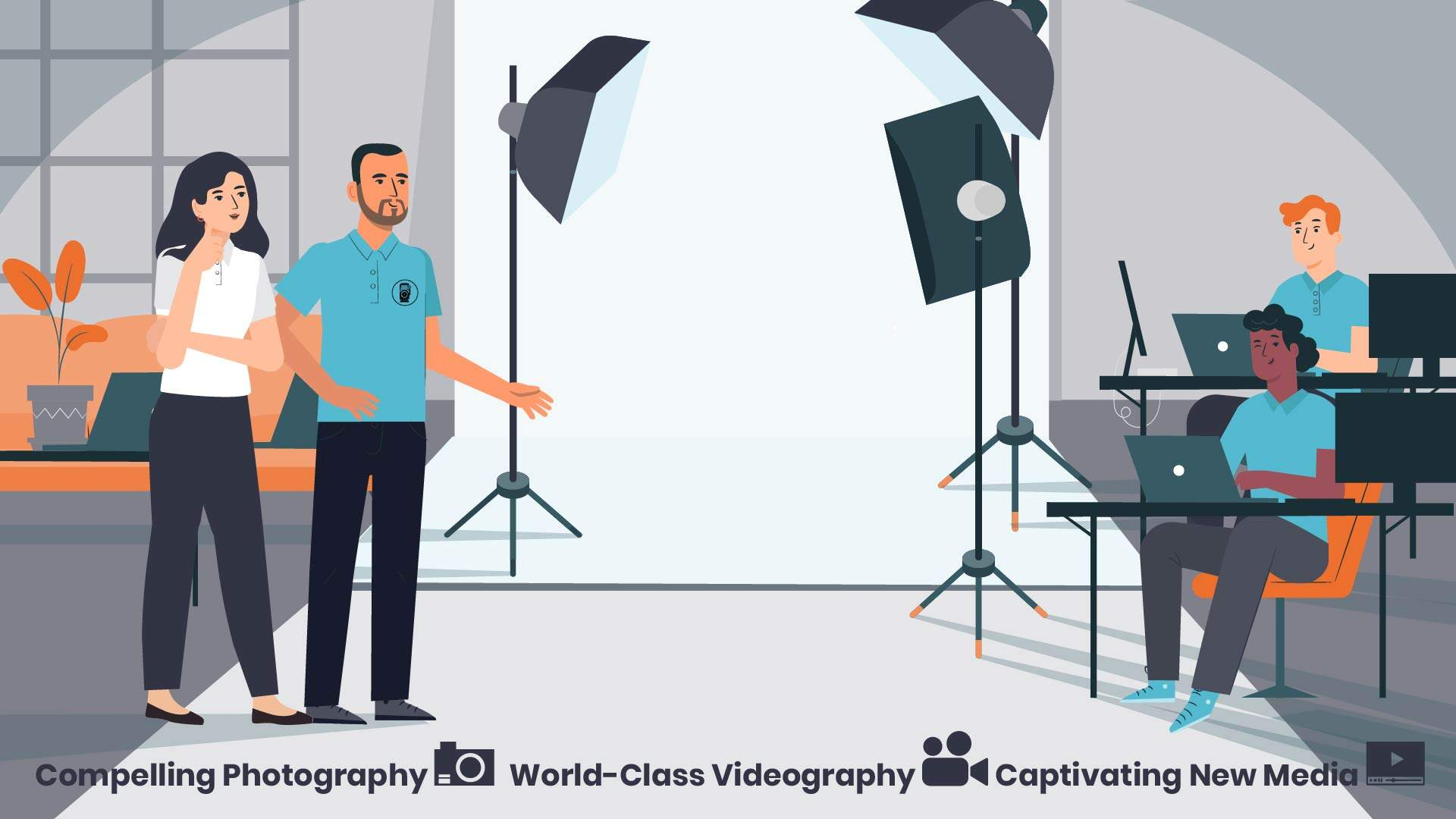Creating professional content - an animated video about a startup