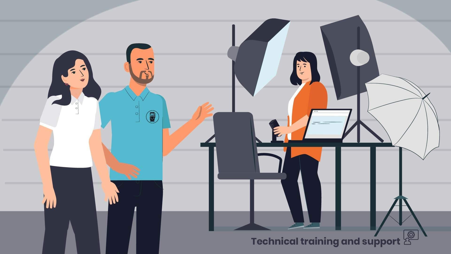 Social video animated explainer video filming studio