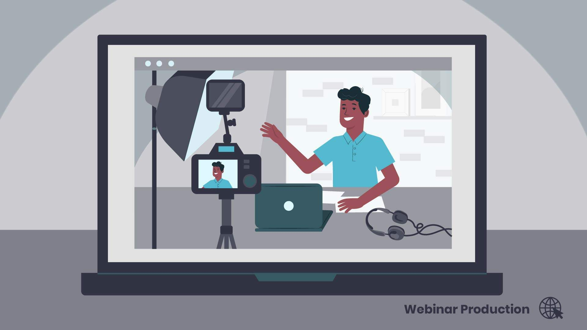 How to broadcast live - animation