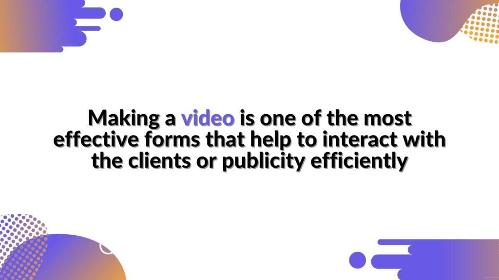 """Making a video - in the article """"Would you like to boost your marketing campaign? Animate your brand characters"""""""