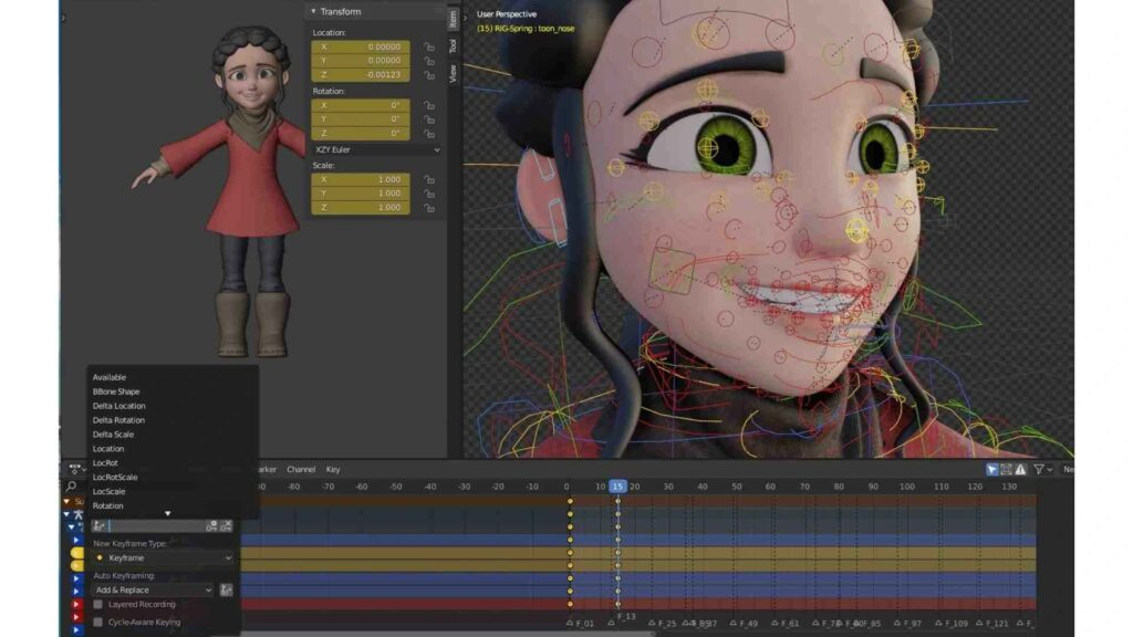 Creating an Animated Game Character in a Blender Application