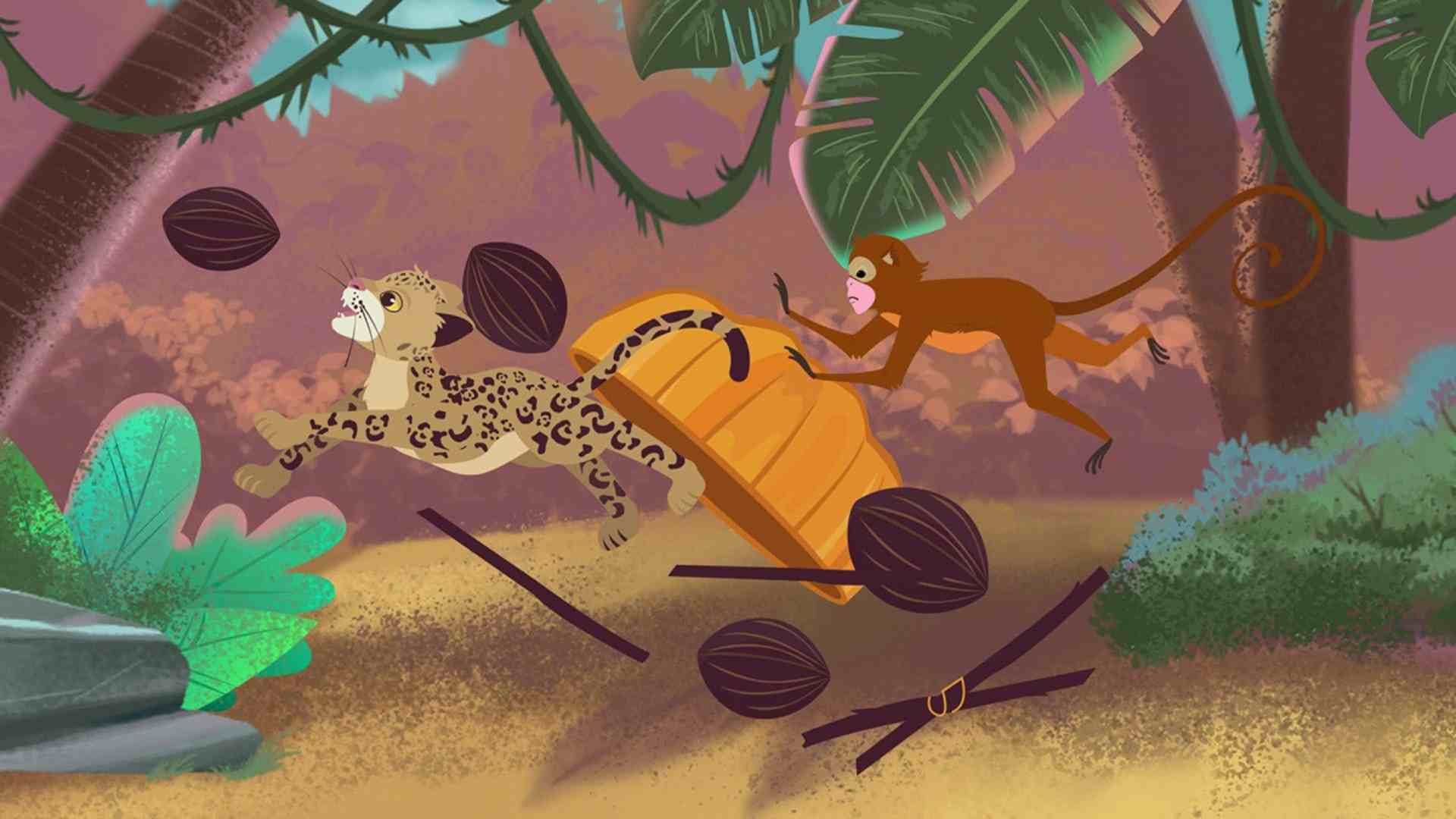 """Jungle Beasts in the cartoon """"Davy & Friends"""""""