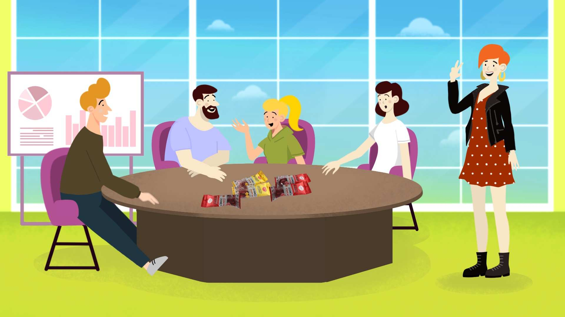 Business meeting in Promotional Video